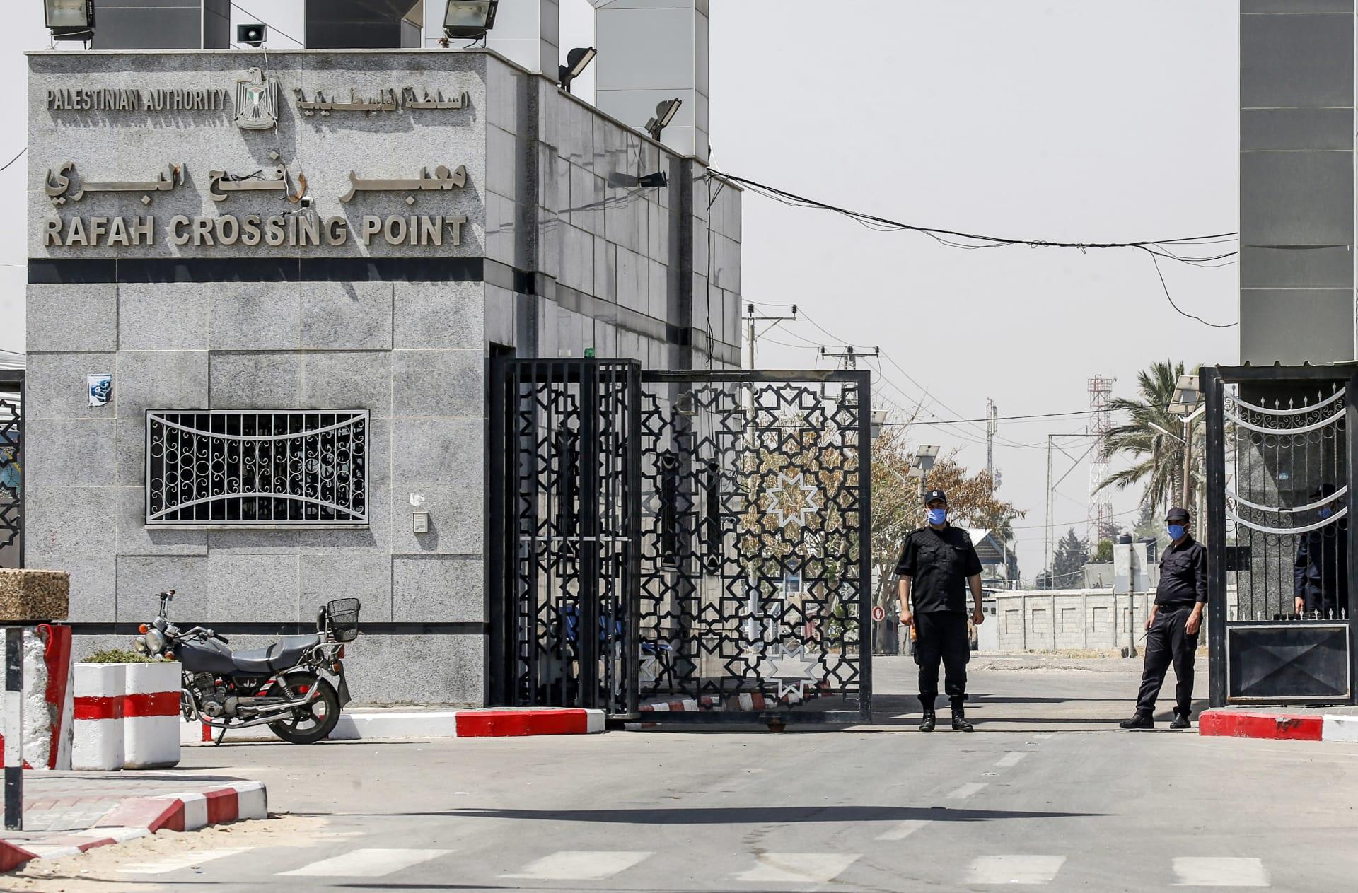 معبر رفح البري من الجانب الفلسطيني