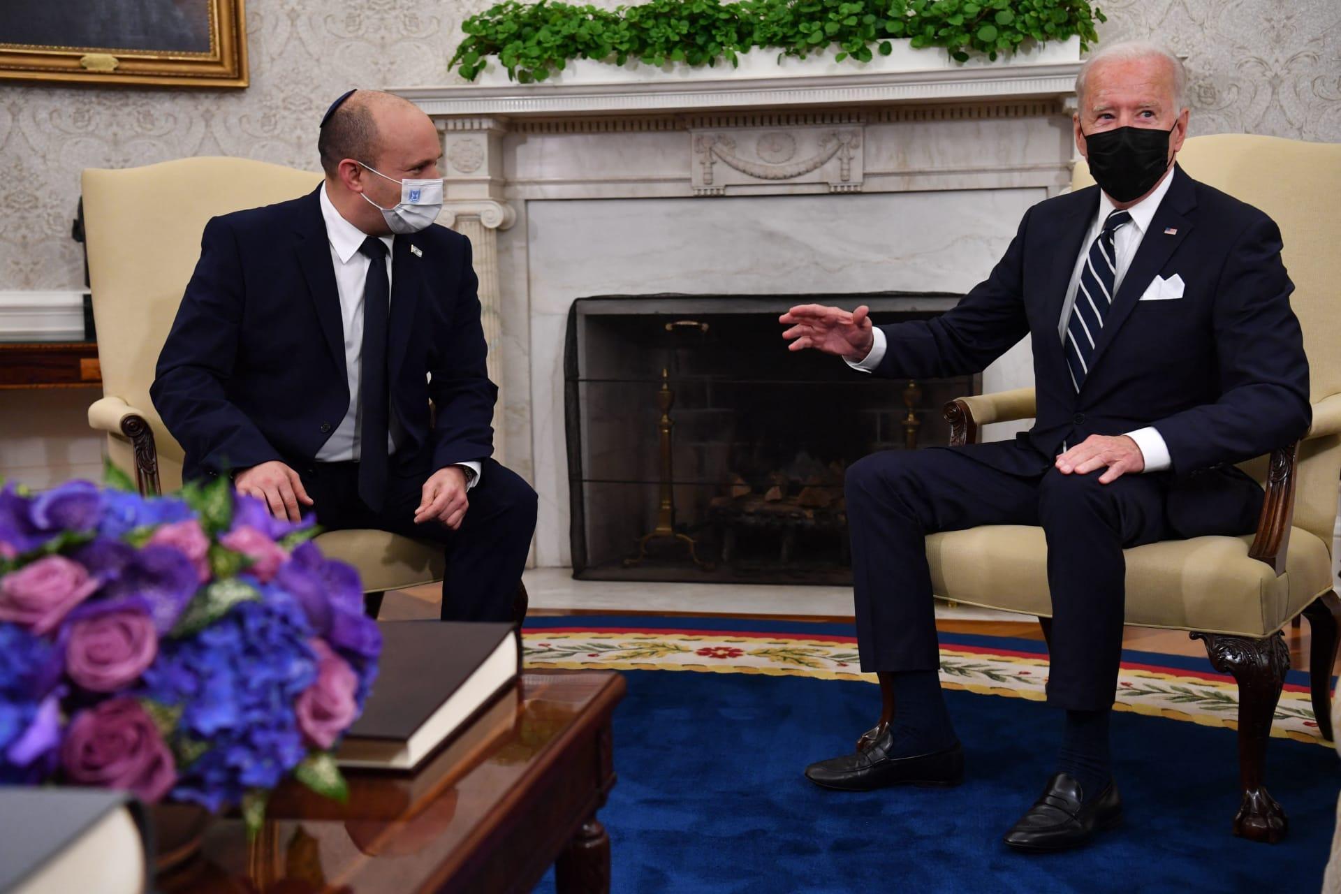 لقاء الرئيس الأمريكي، جو بايدن، مع رئيس الوزراء الإسرائيلي، نفتالي بينيت، في البيت الأبيض