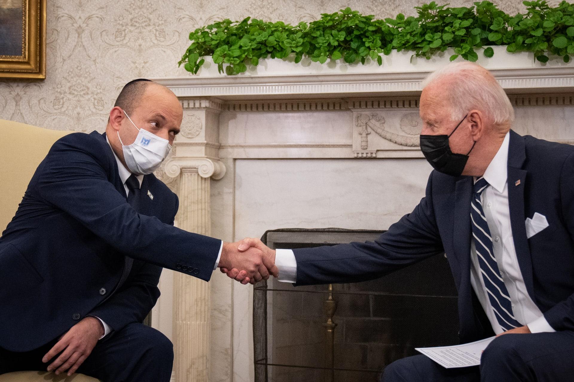 لقاء بايدن وبينيت في البيت الأبيض