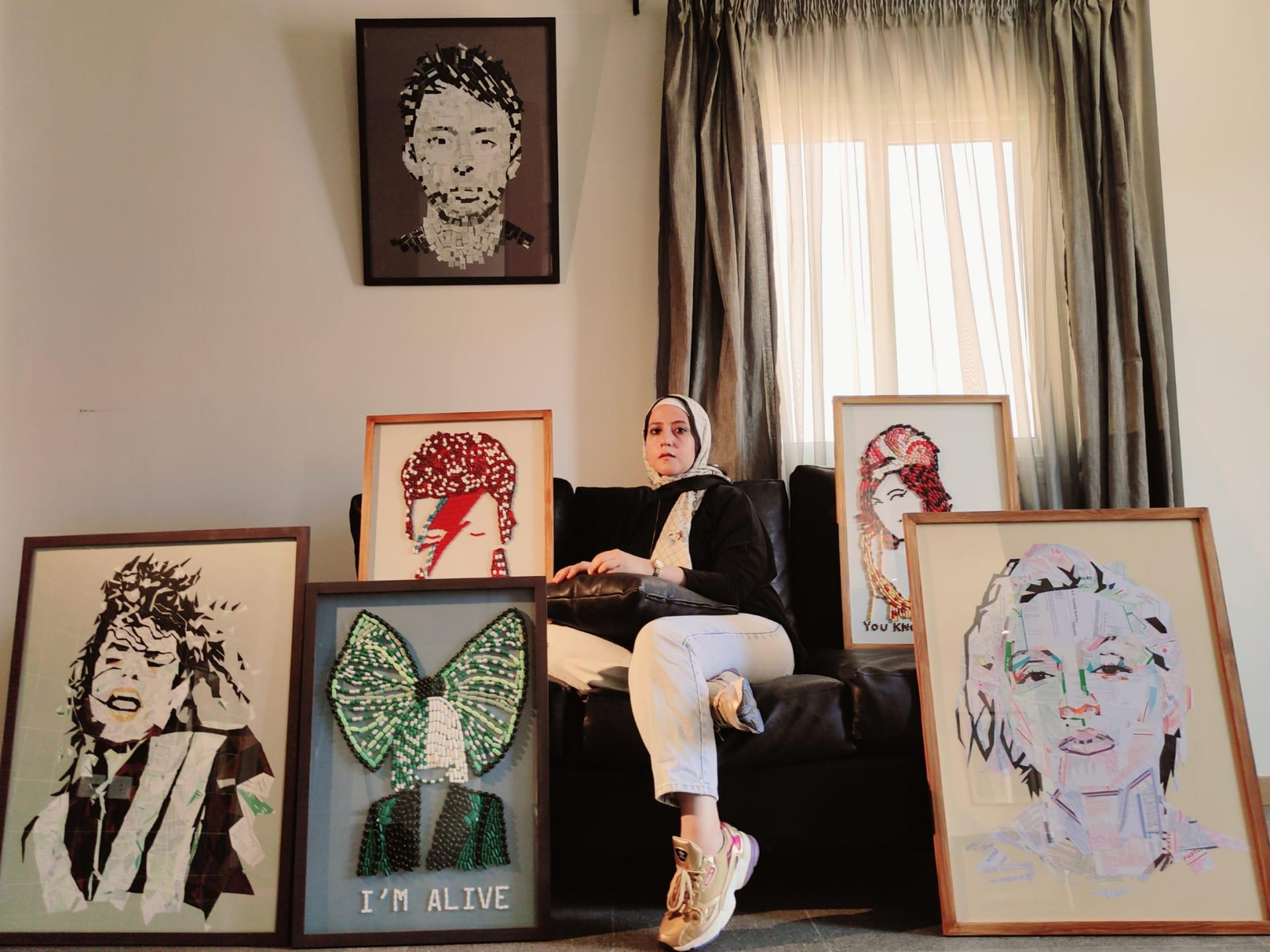 لمواجهة ألم رحيل أمها بسبب السرطان..مصرية تبدع أعمالاً فنية من أقراص علاجها منتهية الصلاحية