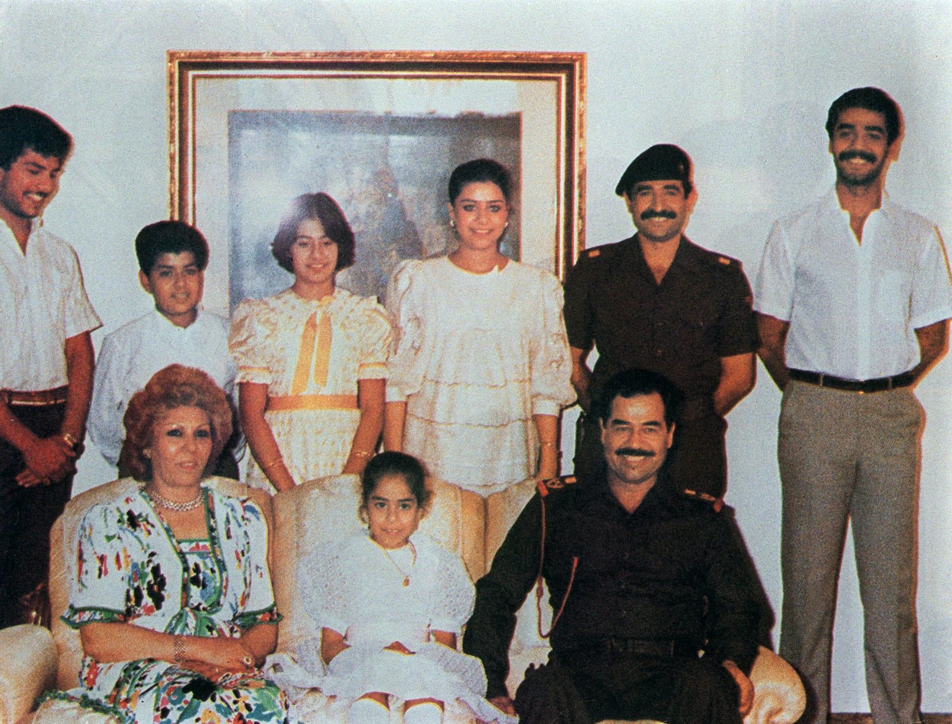 صدام حسين وعائلته العام 1998