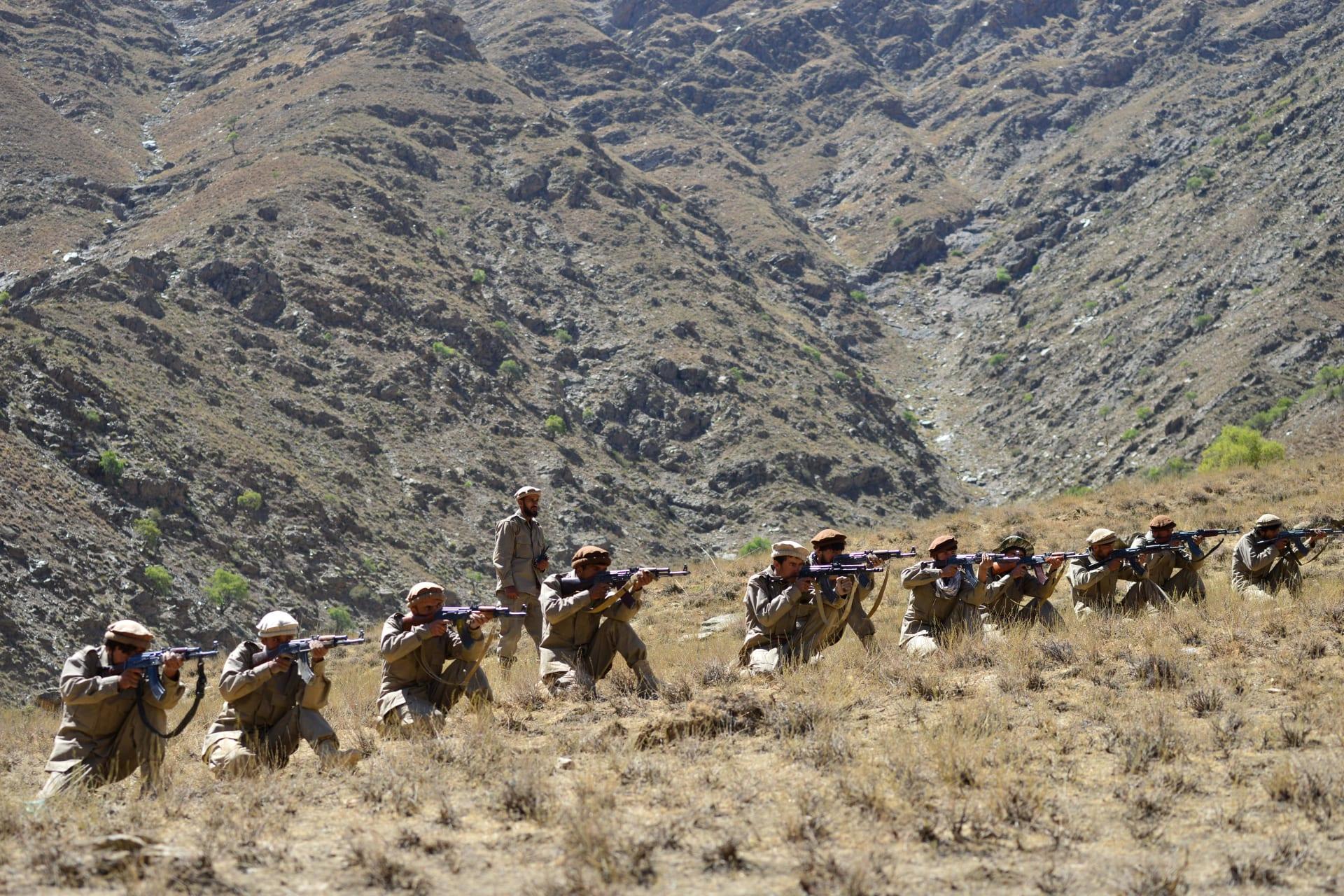 تدريبات في وادي بنجشير لقوات تحالف الشمال وجبهة المقاومة الوطنية المناهضة لطالبان - 2 سبتمبر 2021