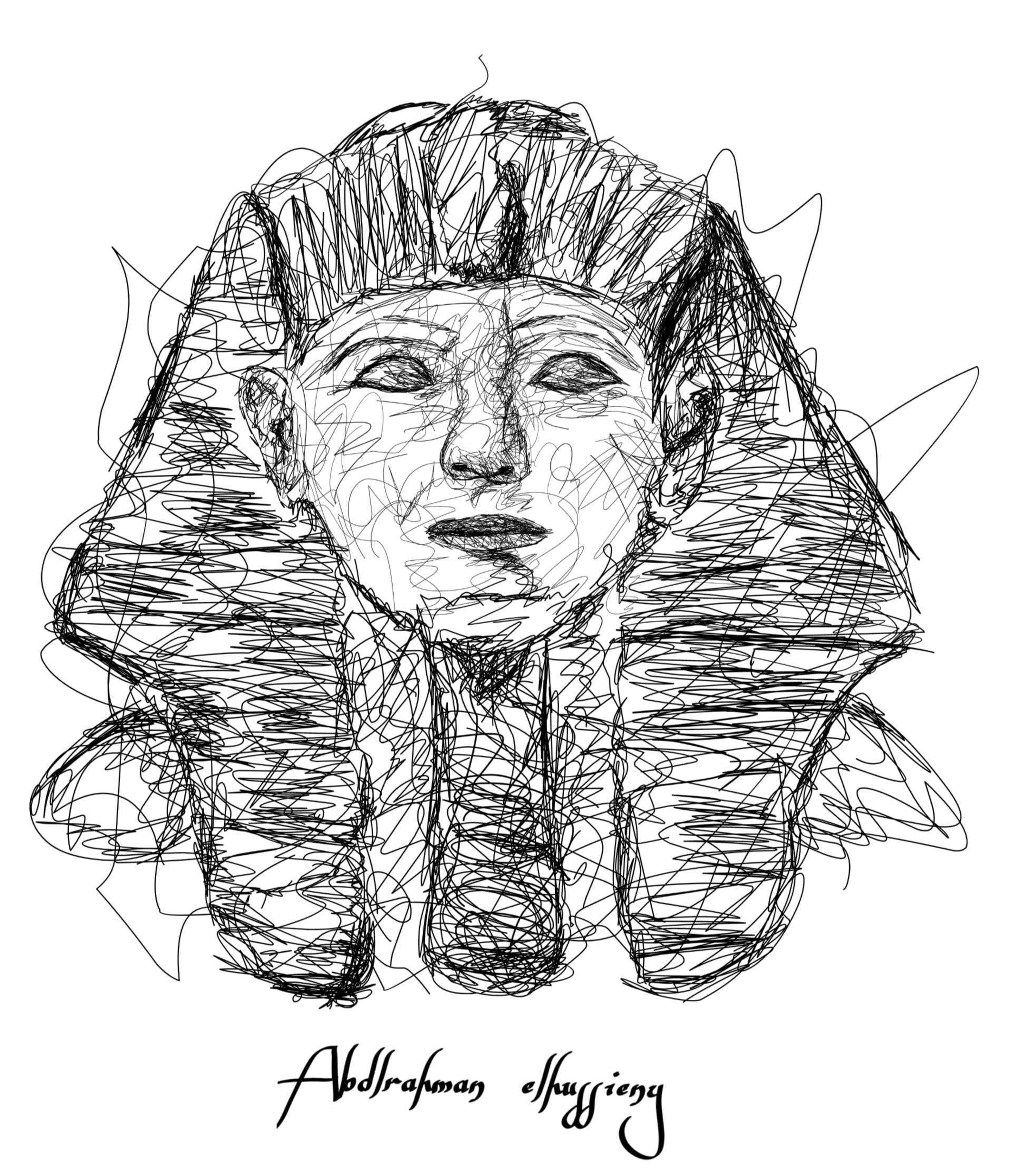 """مصري يبرز أهم ملوك وملكات مصر القديمة بـ""""الشخابيط"""""""