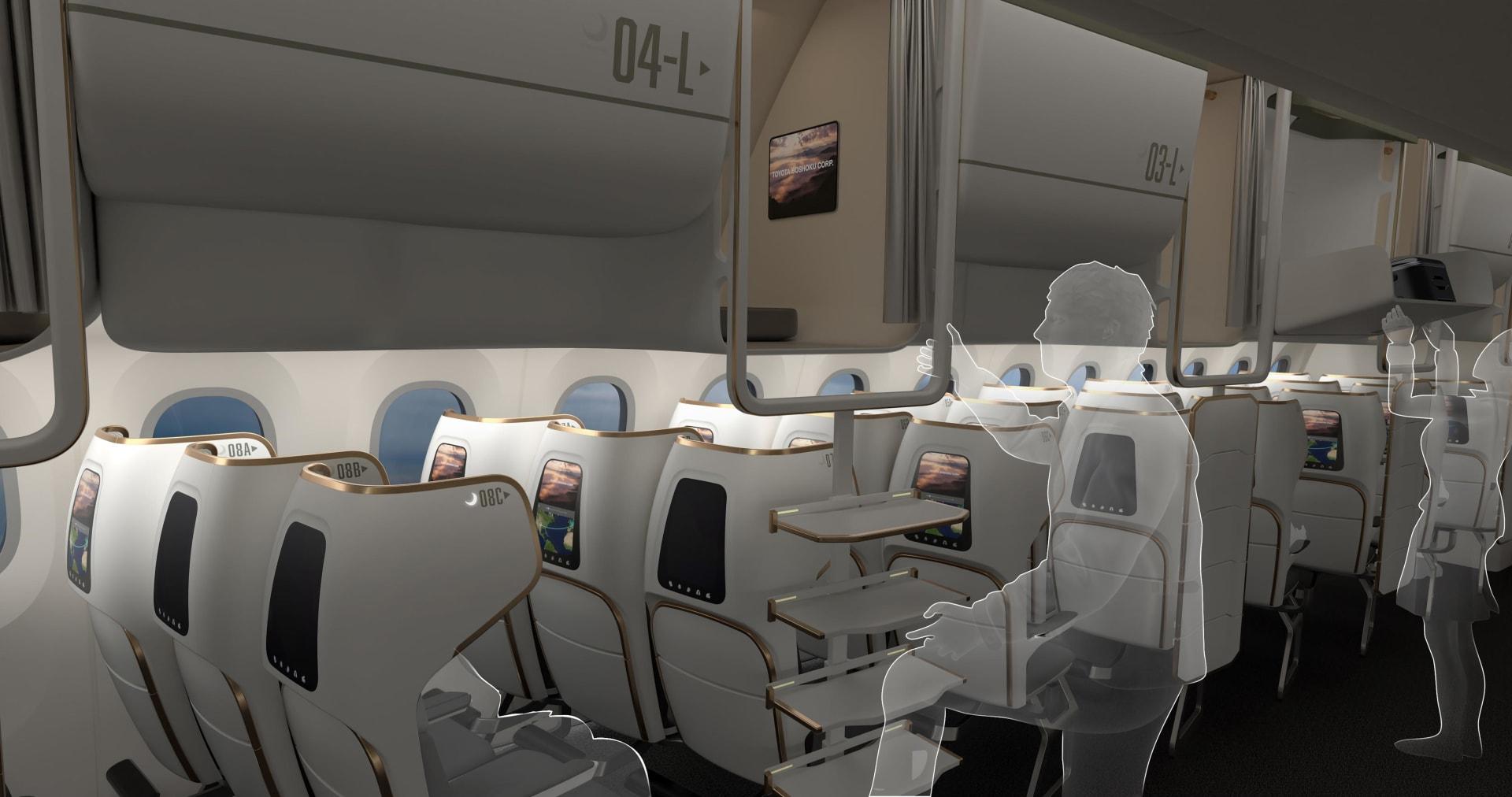 """جوائز """"كريستال كابين"""".. ألق نظرة على التصاميم المستقبلية لمقصورات الطائرات"""