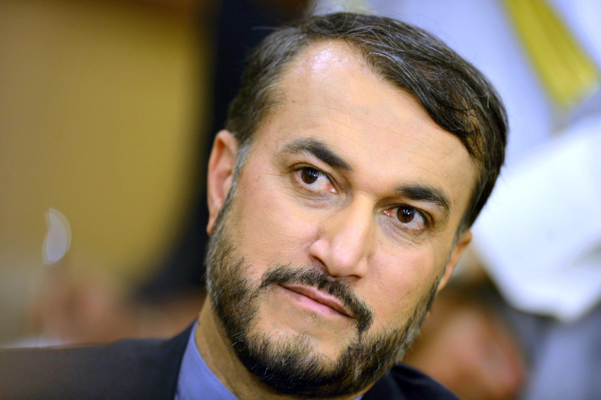 وزير الخارجية الإيراني، حسين أمير عبد اللهيان