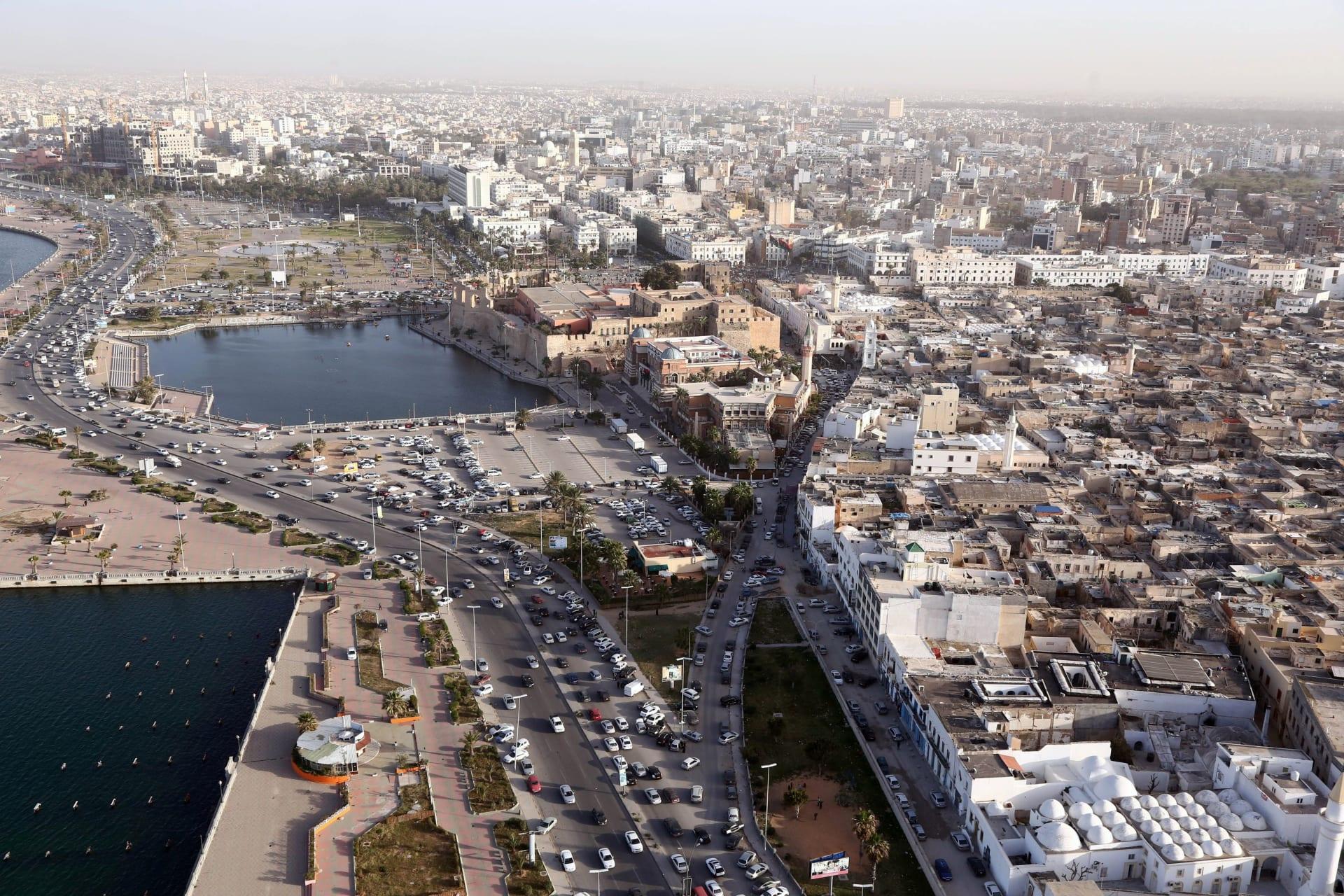 صورة ارشيفية عامة من العاصمة الليبية طرابلس