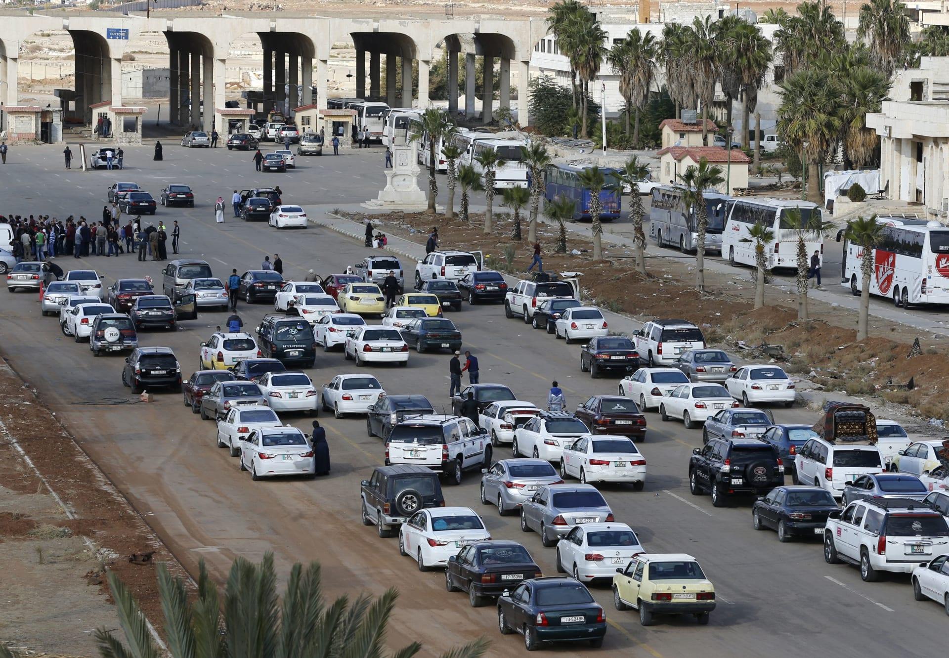 صورة ارشيفية من الحدود الأردنية السورية