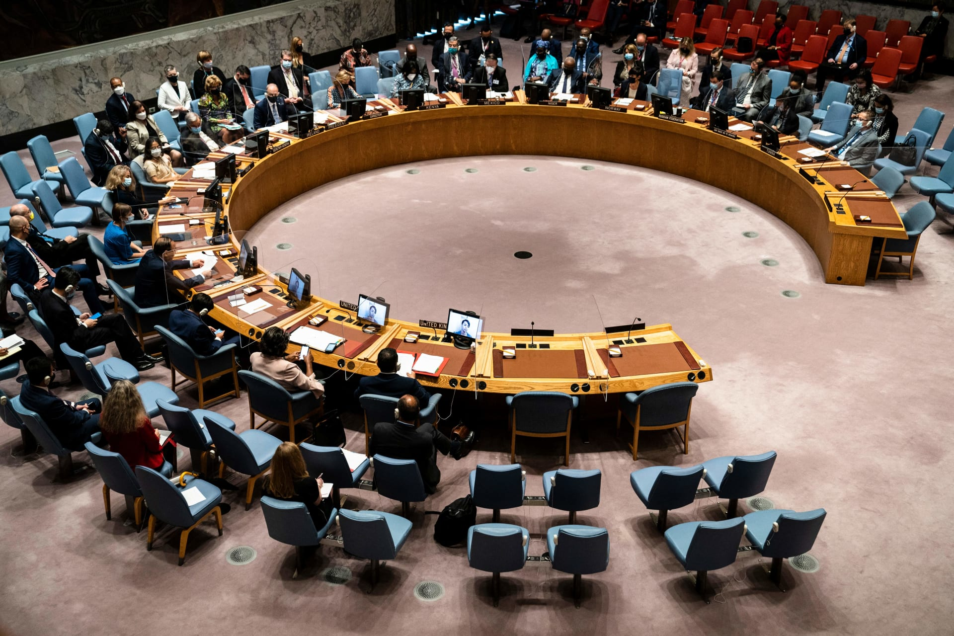 صورة أرشيفية لجلسة في مجلس الأمن الدولي