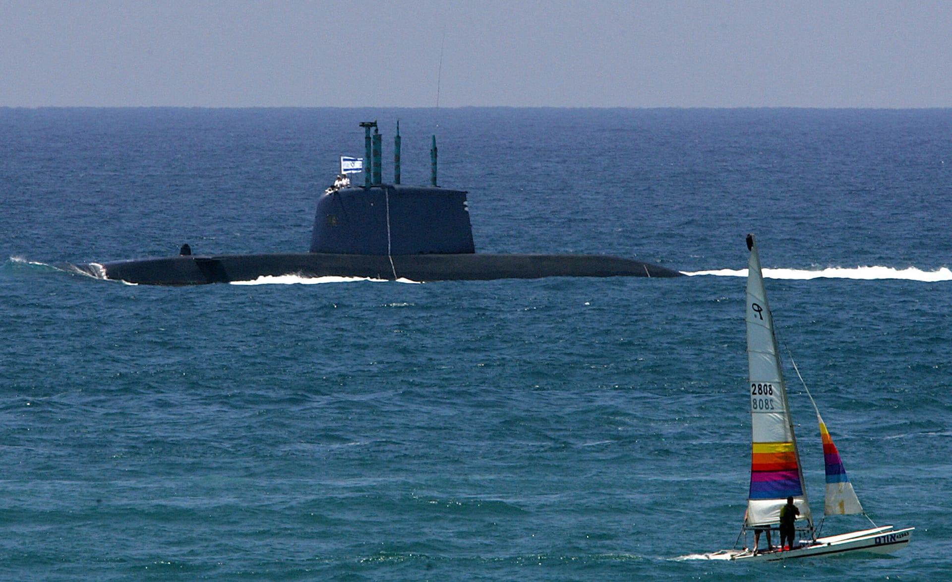 """غواصة """"دولفين"""" للجيش الإسرائيلي في البحر الأبيض المتوسط، 8 مايو 2008"""