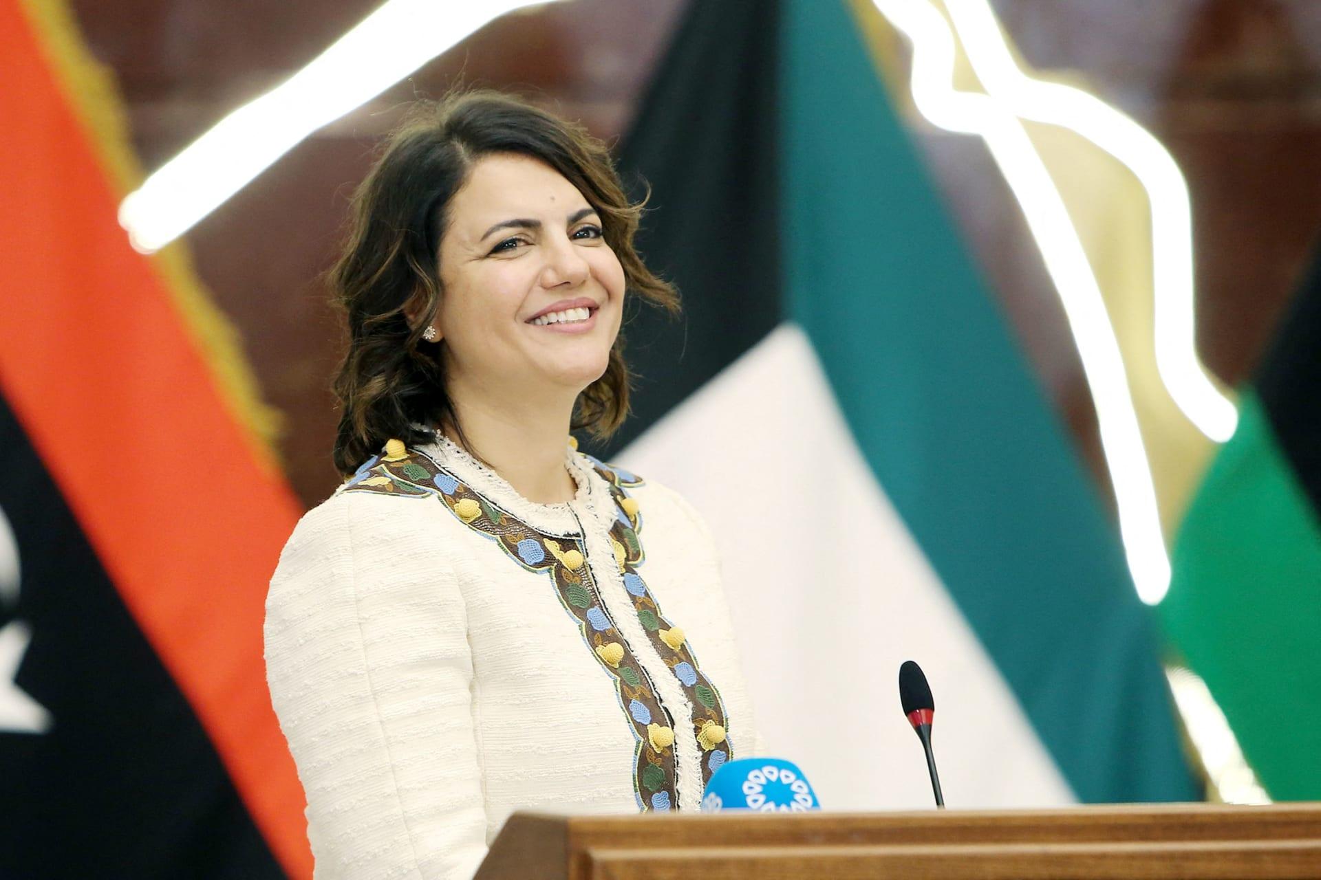 وزيرة الخارجية الليبية، نجلاء المنقوش
