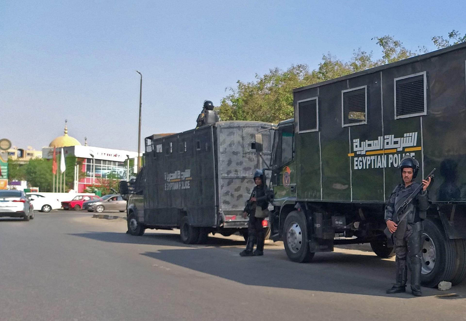 شرطة مكافحة الشغب المصرية في العاصمة المصرية القاهرة في 27 سبتمبر 2019.