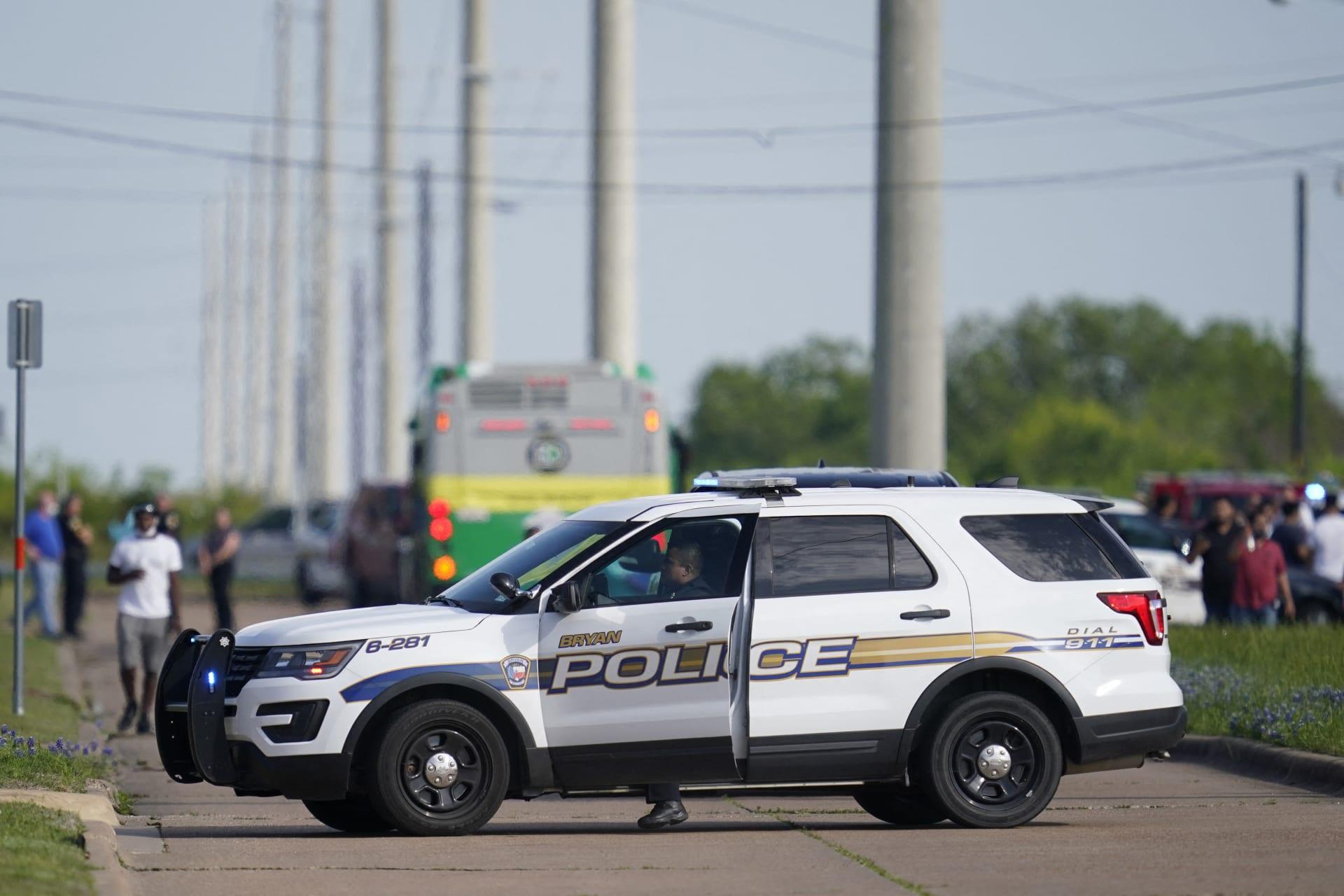 صورة أرشيفية من حادث إطلاق نار في ولاية تكساس - 18 أبريل 2021