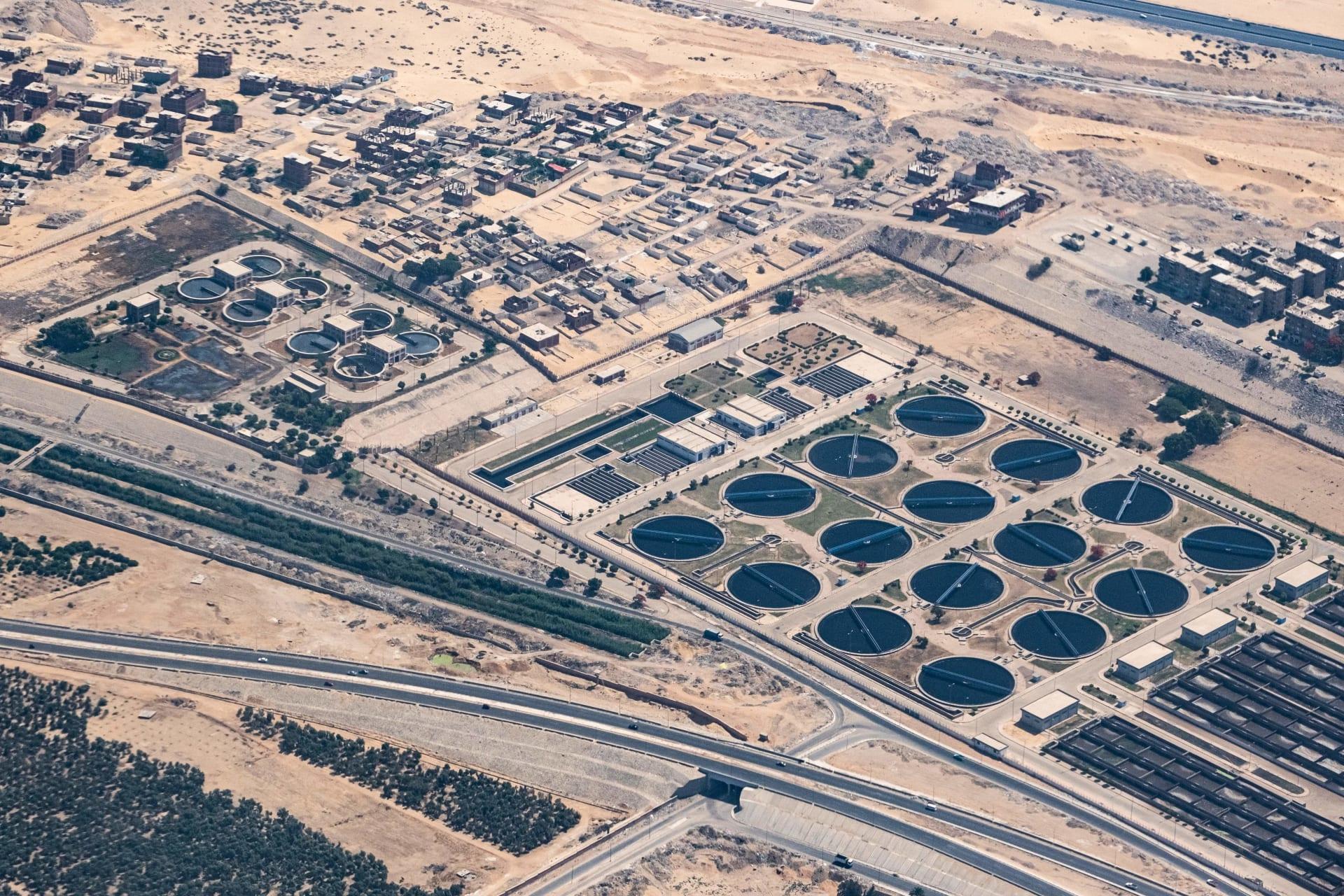 محطة لمعالجة المياه في ضواحي القاهرة