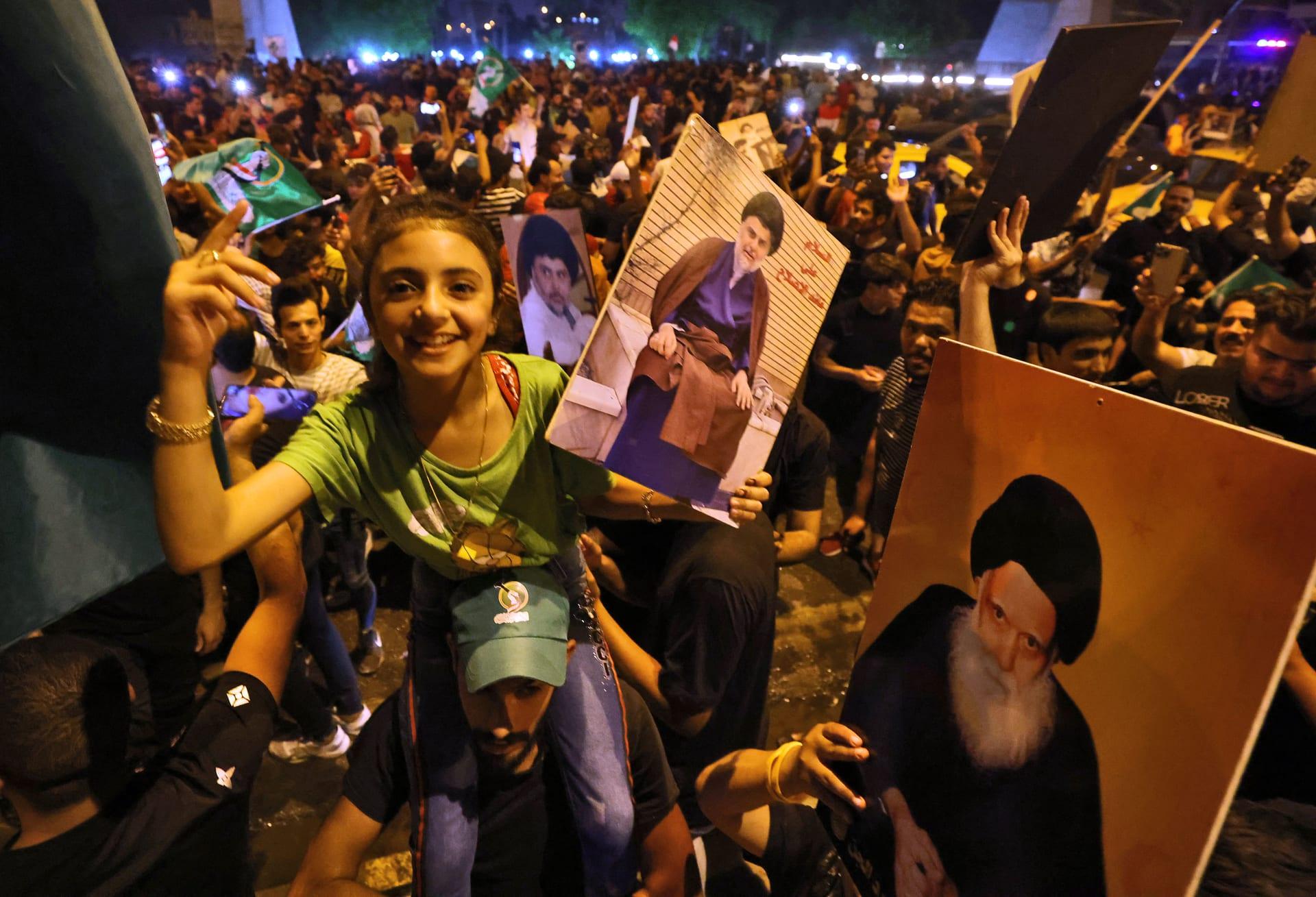 كتلة الصدر تتصدر النتائج الأولية للانتخابات البرلمانية في العراق