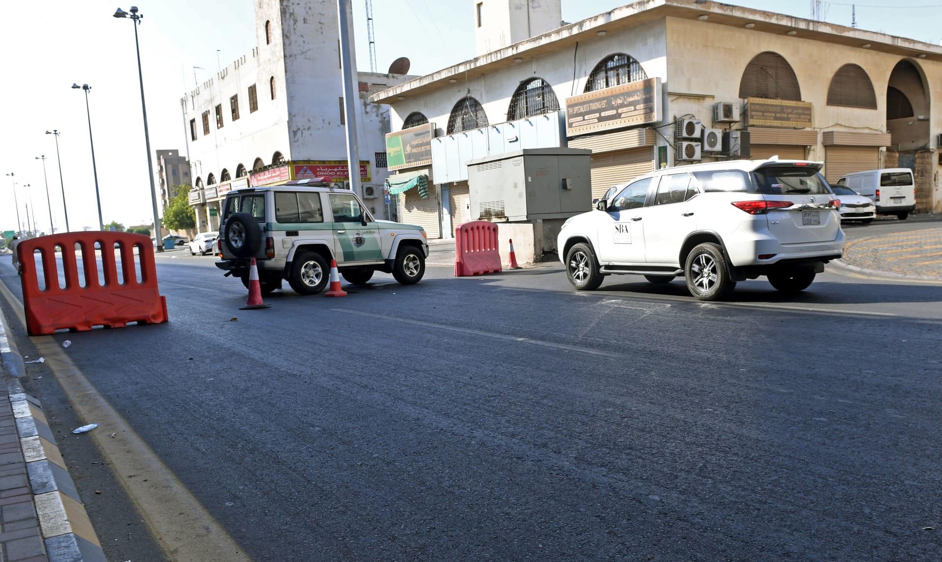 حاجز أمني للشرطة السعودية في مدينة جدة - صورة أرشيفية