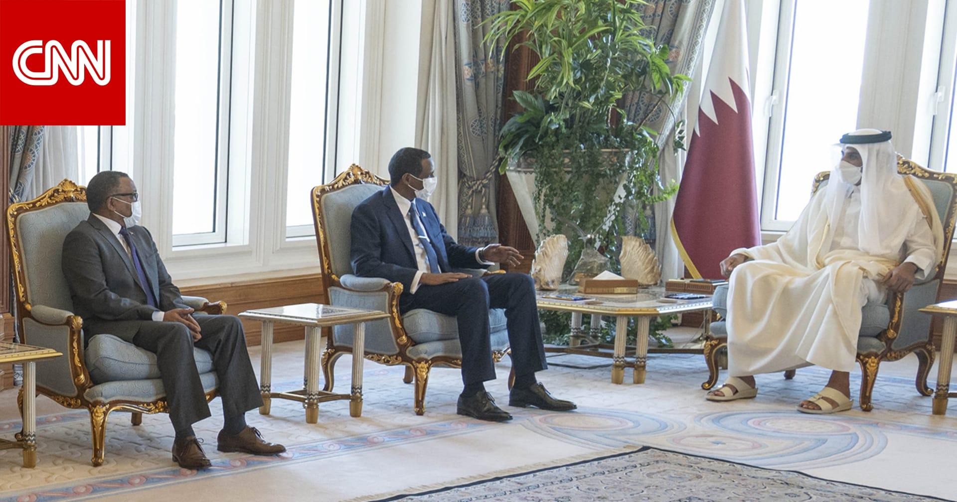"""حميدتي يلتقي تميم بن حمد.. ويبحث أزمة """"سد النهضة"""" مع وزير خارجية قطر"""