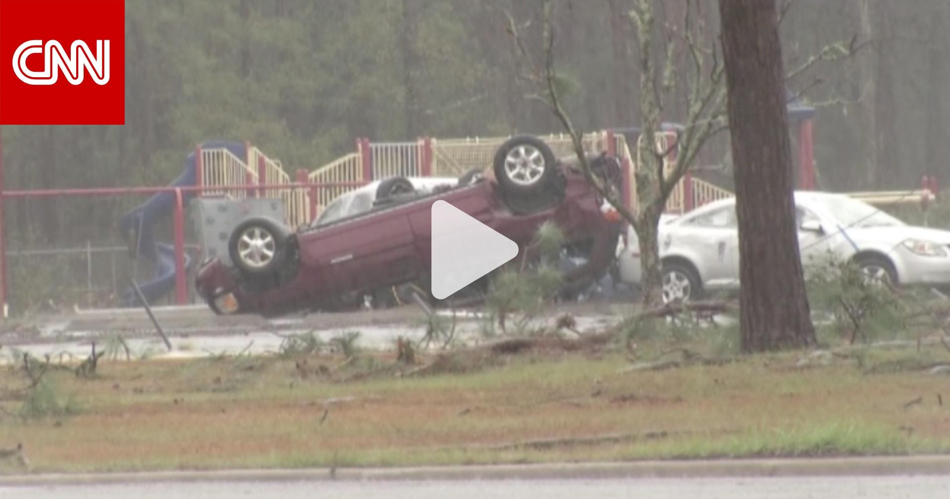 بالفيديو: إعصار يخلف أضرارا جسيمة في ولاية جورجيا ...