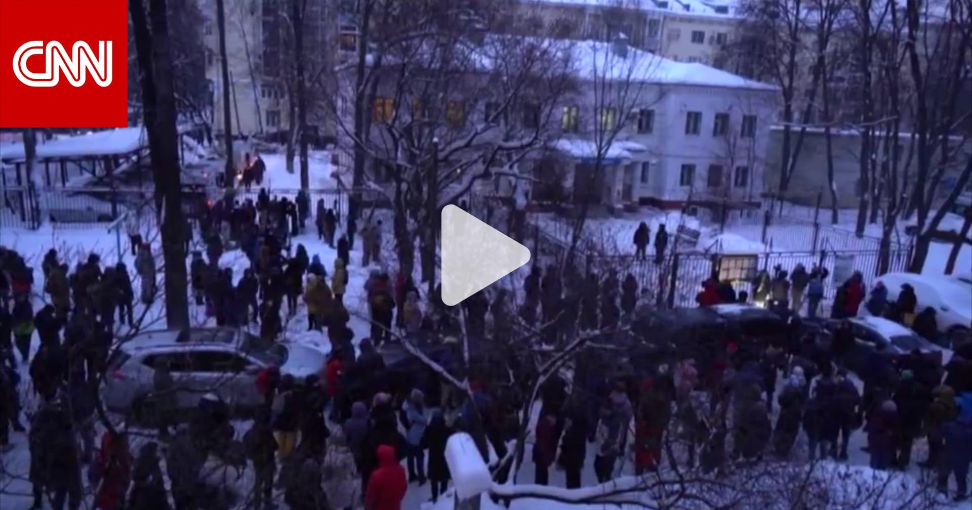 اندلاع مظاهرات خارج مركز شرطة بموسكو بعد اعتقال نافالني