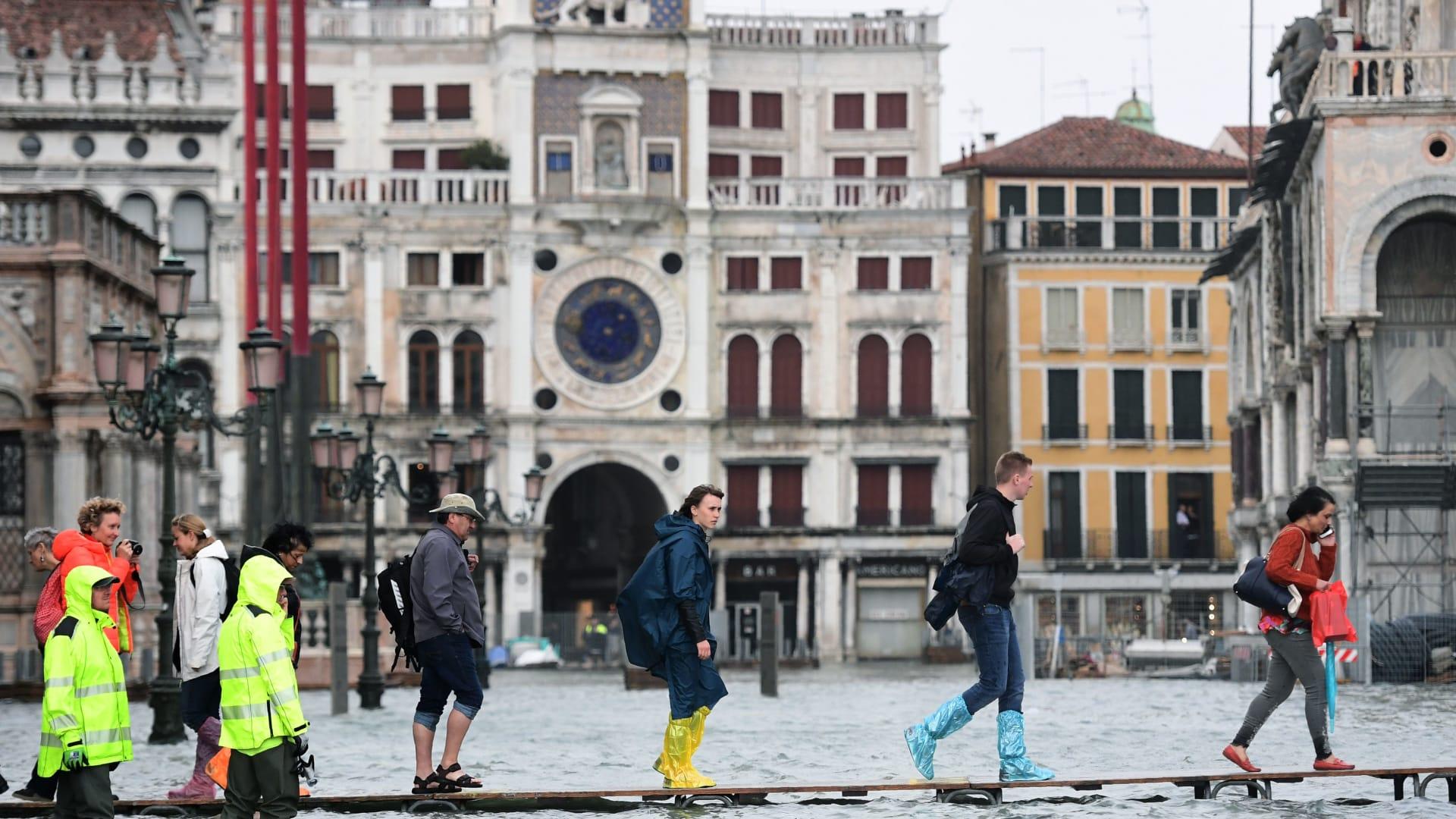 البندقية تشهد أسوأ فيضانات منذ 10 سنوات