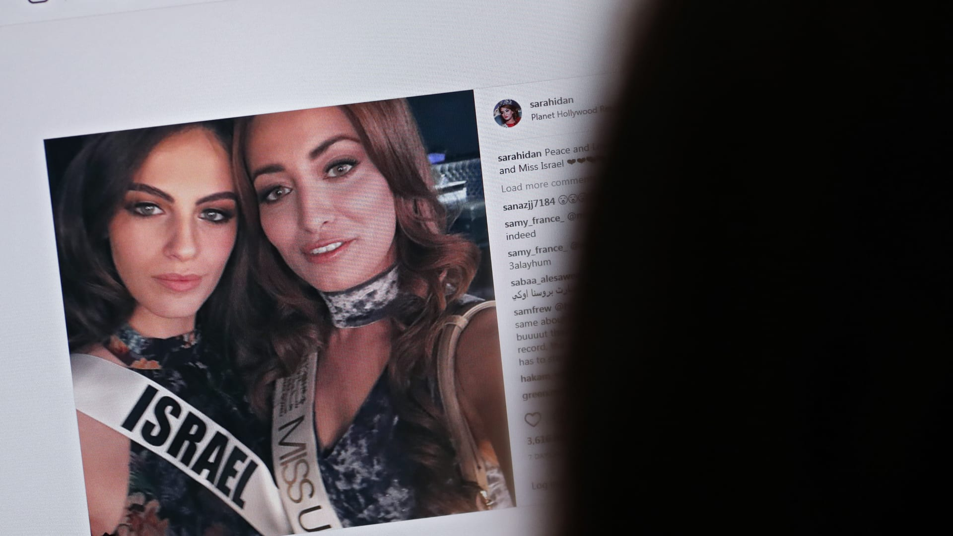 """شاهد.. """"تهديدات"""" بقتل ملكة جمال العراق بعد صورة سيلفي"""