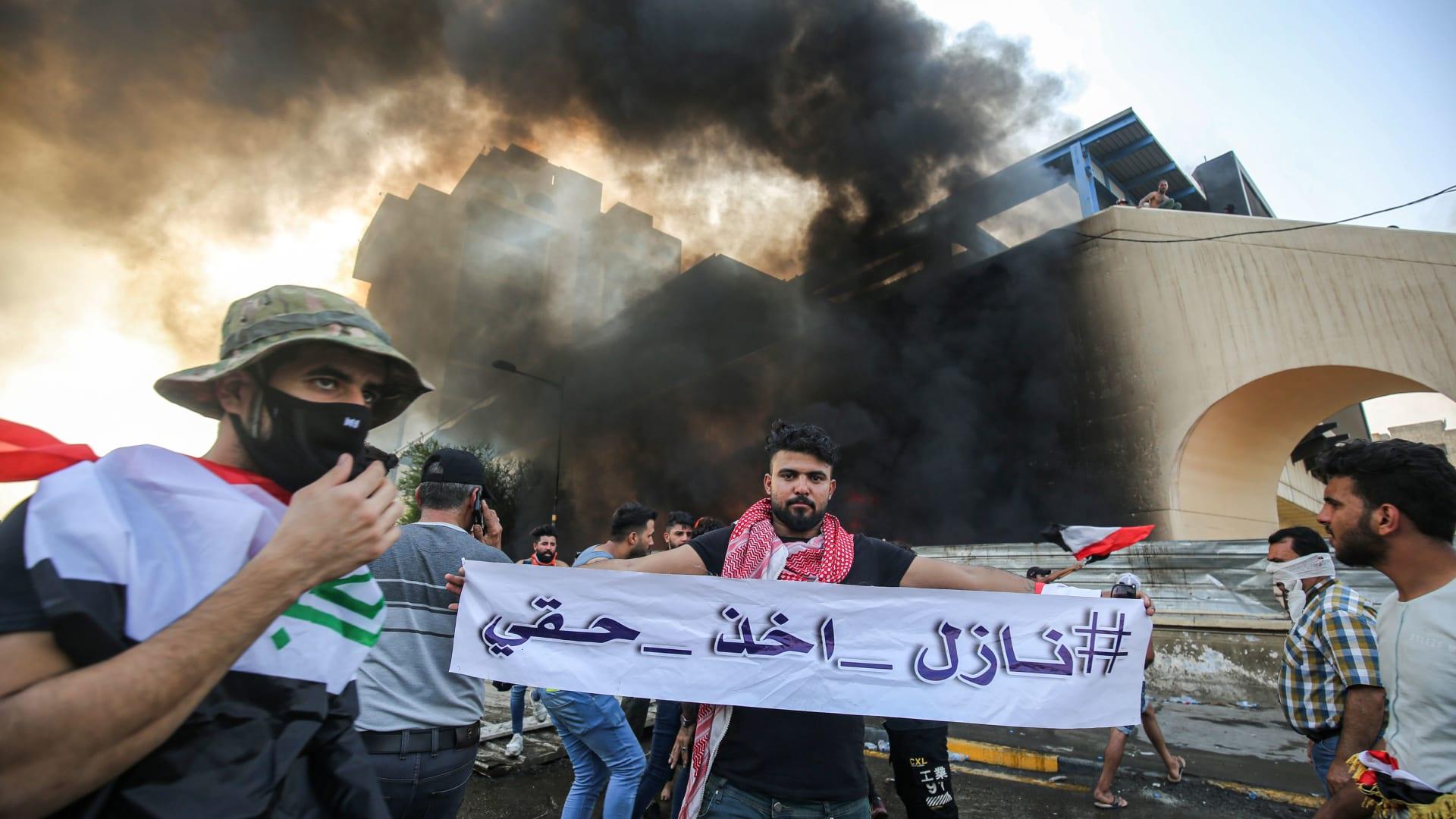 لحظة إلقاء أطنان من المتفجرات على مواقع لداعش في العراق