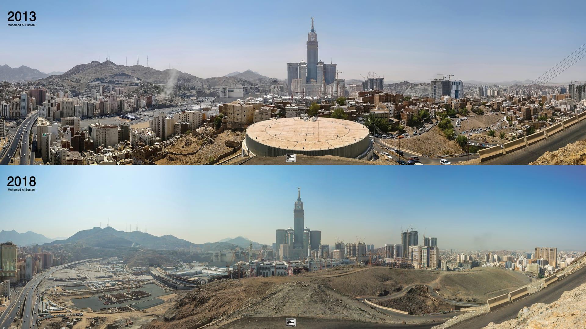 مصور سعودي يلتقط بعدسته صخرة ضخمة غريبة الشكل في السعودية