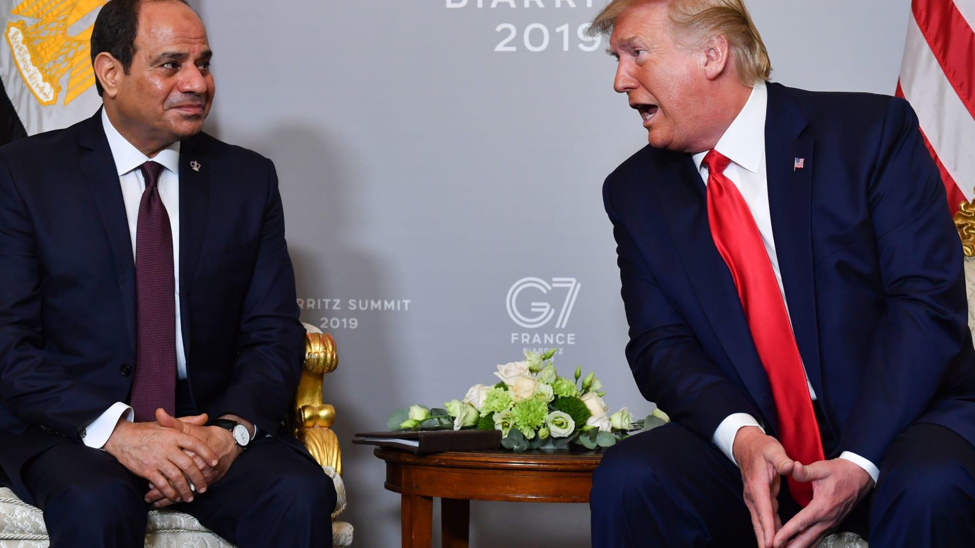 ترامب: مصر تقدمت تحت قيادة عظيمة.. والسيسي: تقدير متبادل