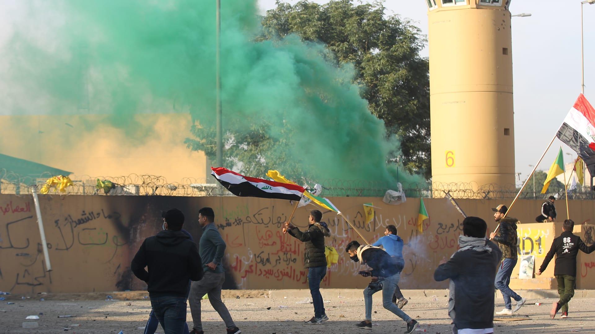 حصار سفارة واشنطن في بغداد.. جولة جديدة من الصراع مع إيران