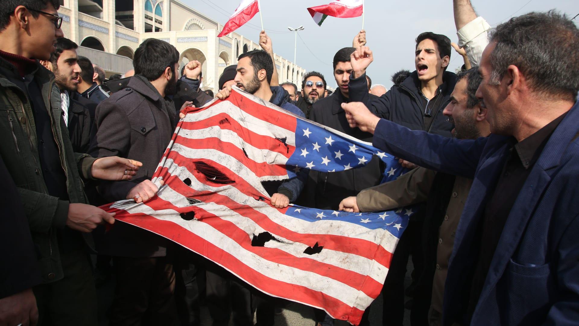 مظاهرات منددة باغتيال قاسم سليماني في طهران