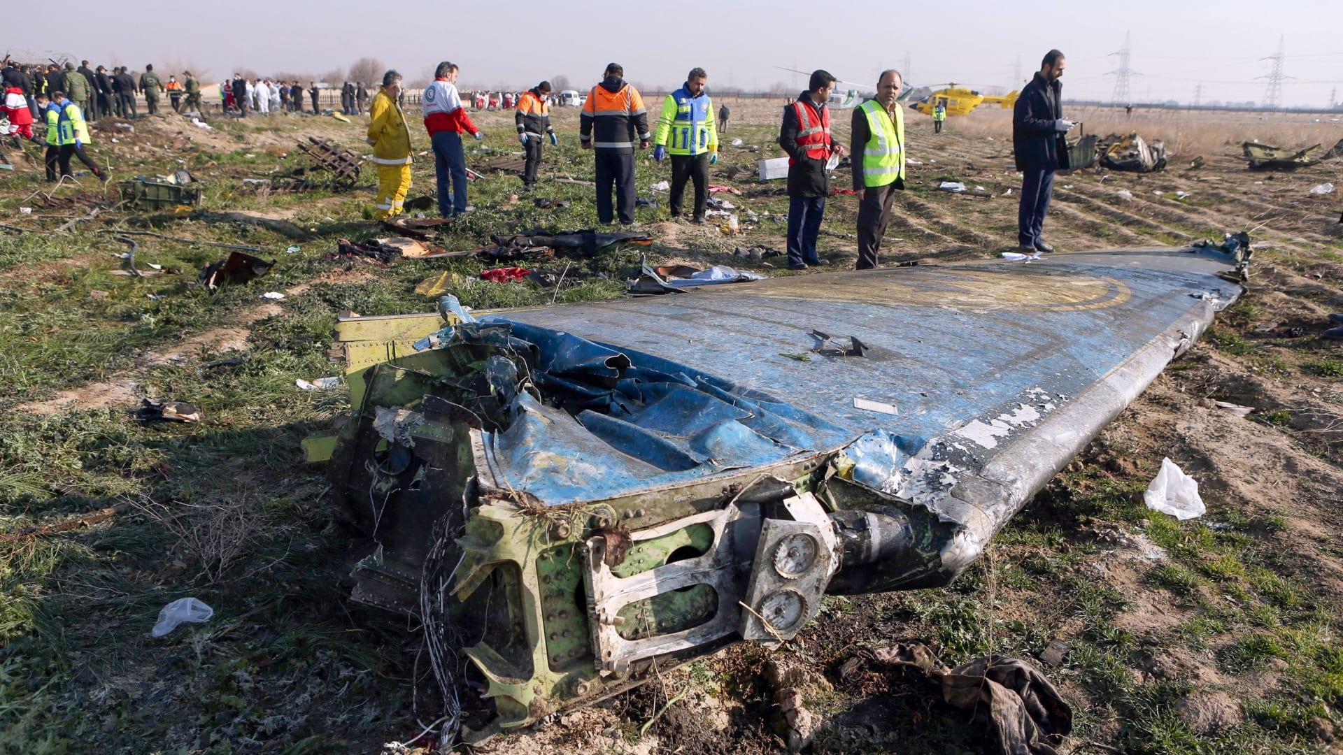 أوكرانيا تطلب تعويض ضحايا الطائرة بعد اعتراف إيران
