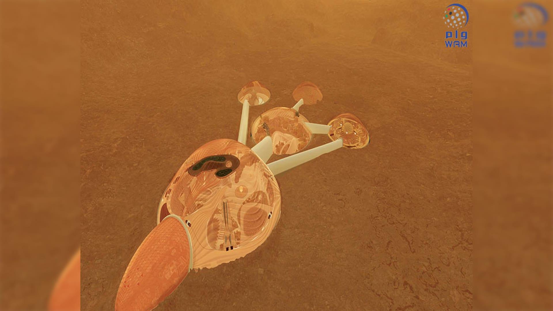 """مشروع""""الإمارات لمحاكاة الفضاء"""" لبناء أول مستوطنة بشرية إماراتية على سطح كوكب المريخ بحلول عام 2117"""