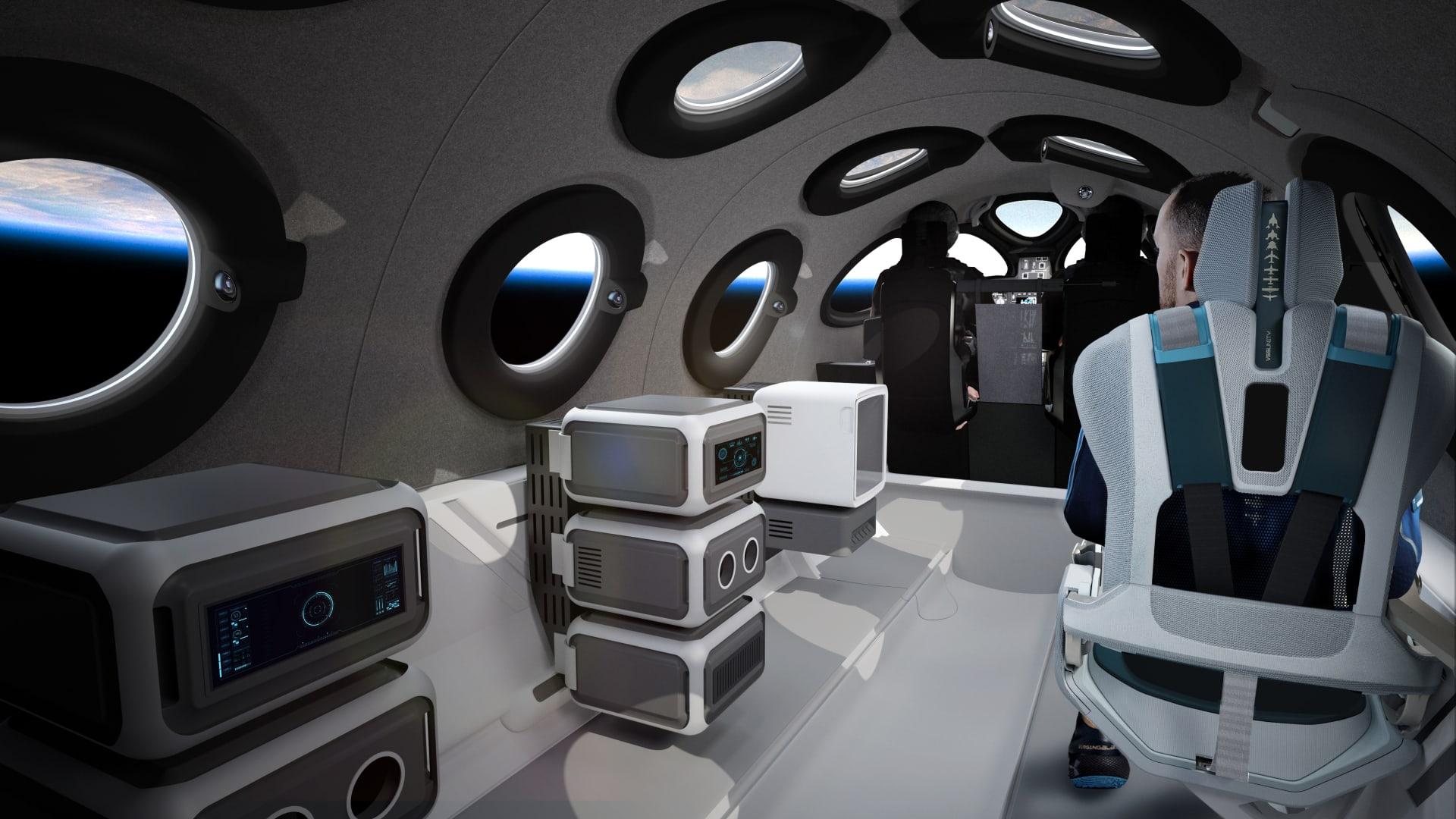 """""""فيرجين غالاكتيك"""" تكشف عن تصميم مقصورة ستنقل السياح إلى الفضاء"""