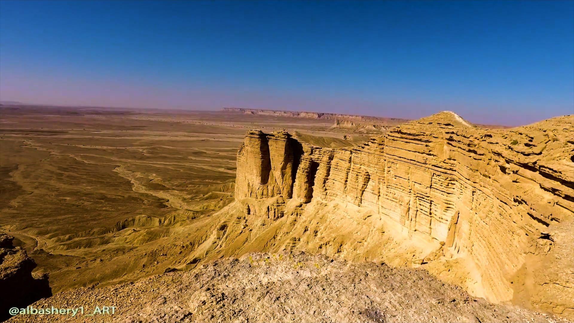 حافة العالم في السعودية - جبل فهرين