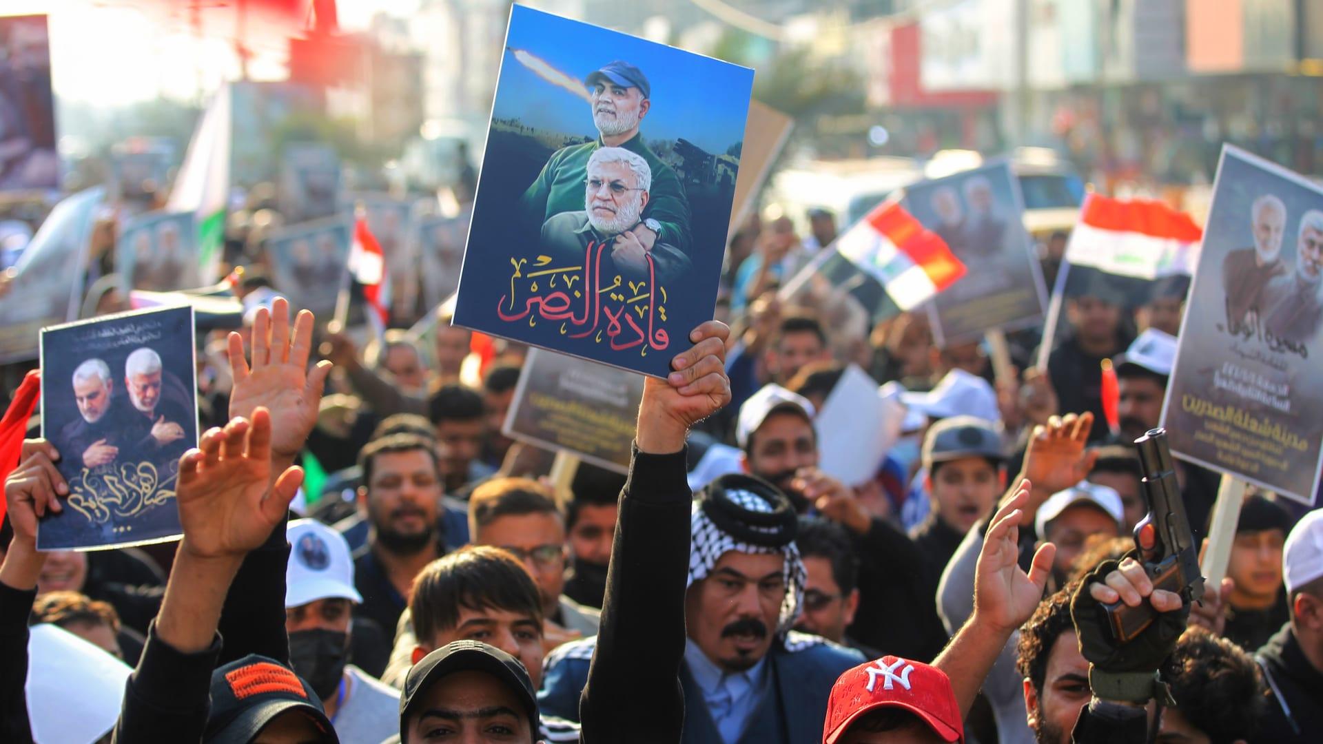 مراسم إحياء ذكرى مقتل سليماني في بغداد.. ومخاوف من تصعيد يزعزع استقرار المنطقة