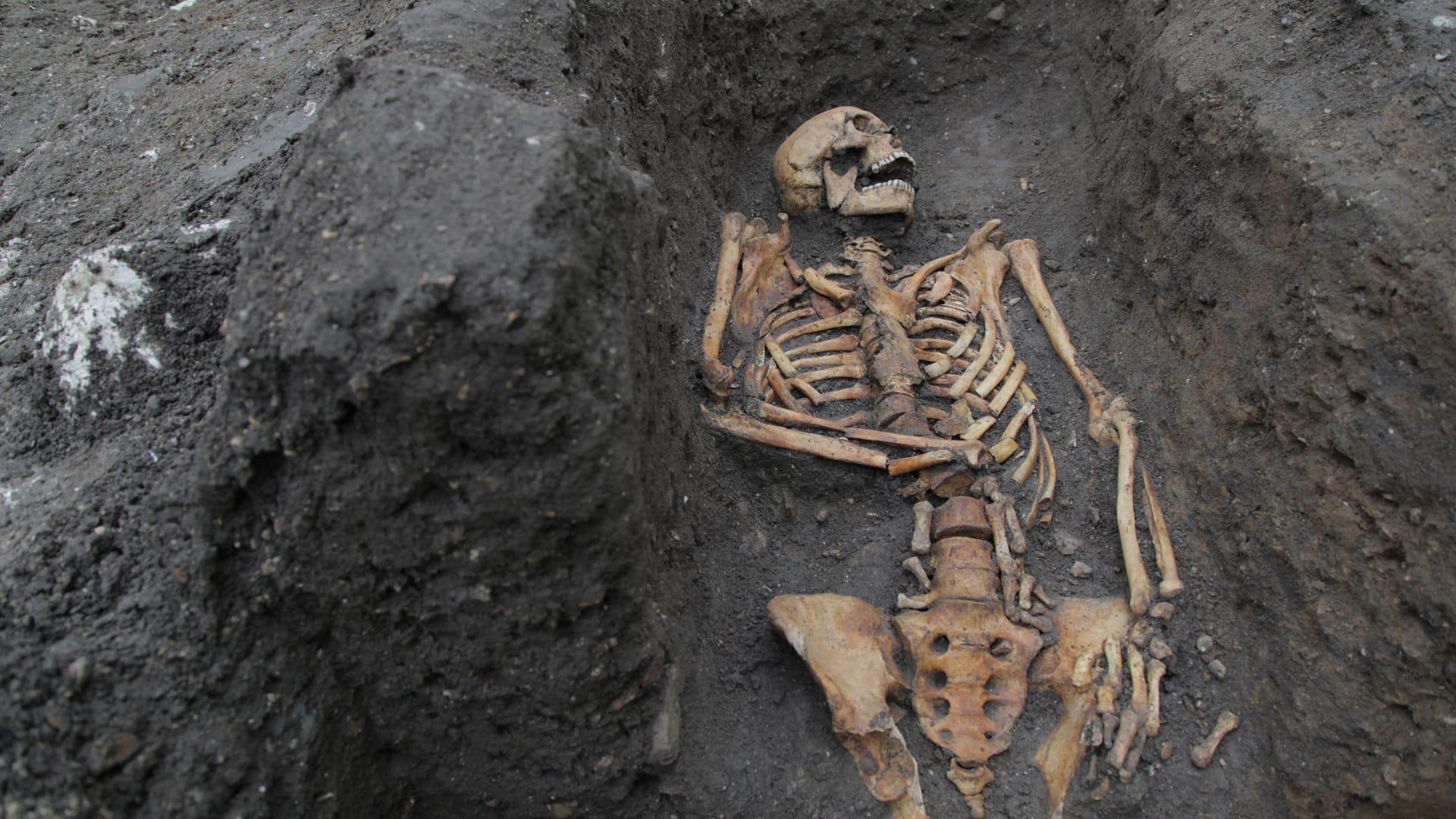 """علماء الآثار يكشفون عن 119 جمجمة تعود لرجال ونساء وأطفال في """"برج الجمجمة"""" في المكسيك"""