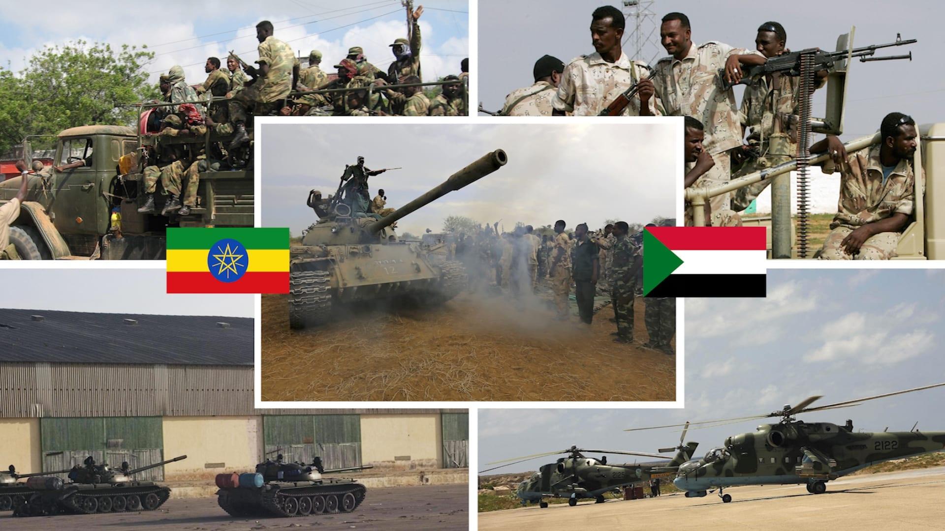 مقارنة بين الجيش السوداني ونظيره الإثيوبي وفق إحصائية 2021