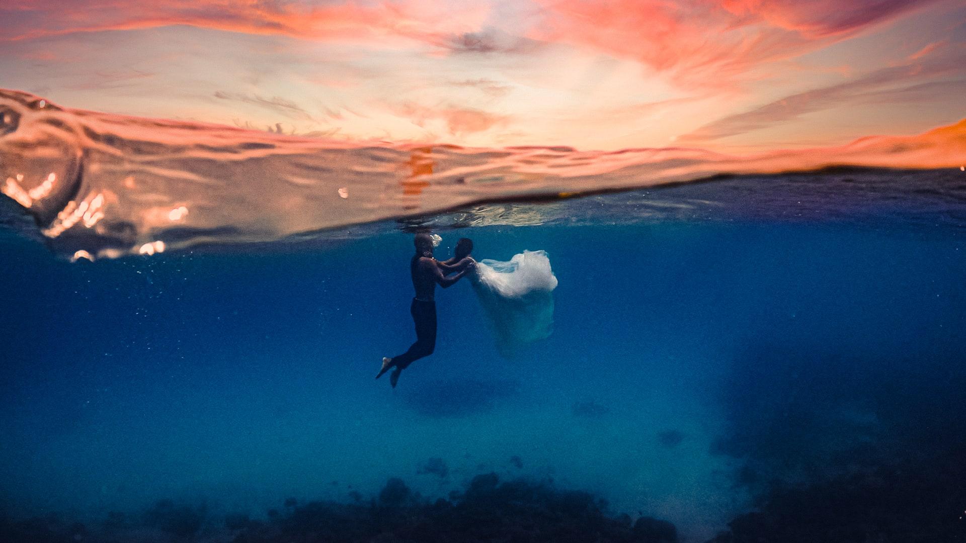زفاف تحت الماء في جزر المالديف