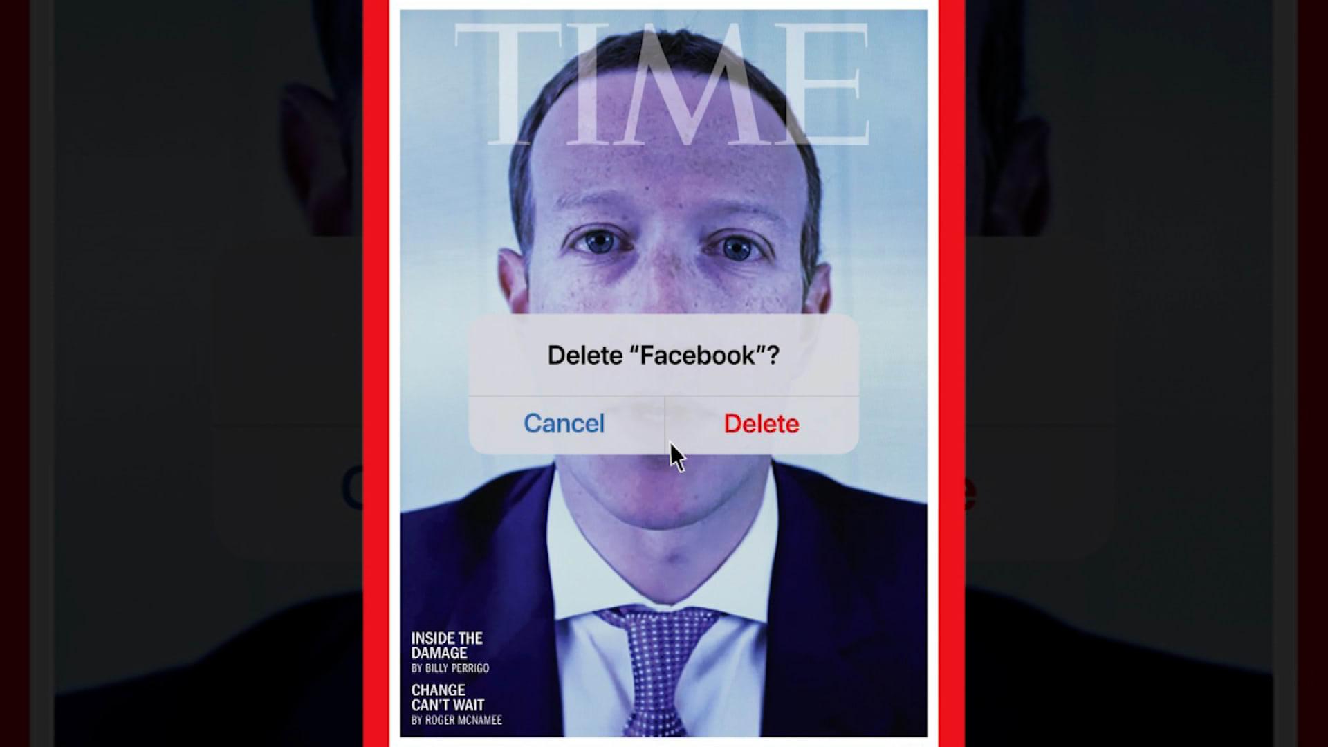 """""""حذف فيسبوك؟"""".. غلاف مجلة """"تايم"""" يلخص واحدًا من أسوأ أوقات زوكربيرغ thumbnail"""