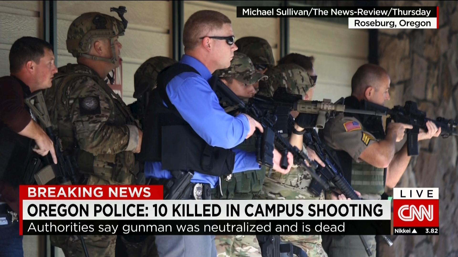 بالصور.. من مسرح هجوم كلية في اوريغون بأمريكا
