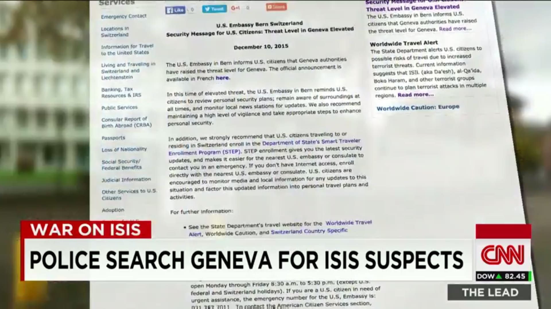 وزير سويسري لـCNN: الشرطة تعتقل شخصين من أصول سورية على علاقة بهجمات باريس
