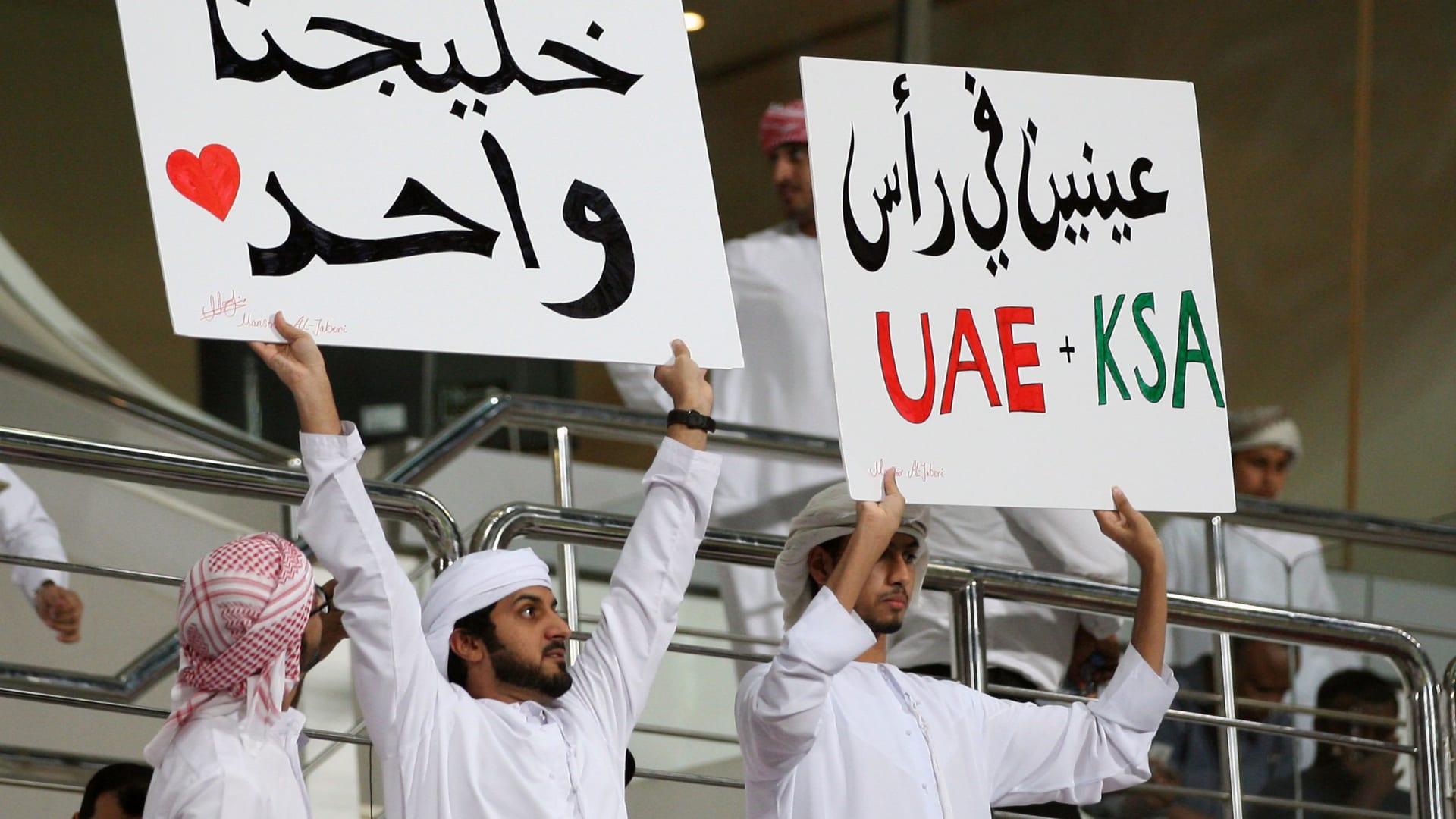 عدد من مشجعي ناديي الجزيرة الإماراتي والهلال السعودي خلال المباراة