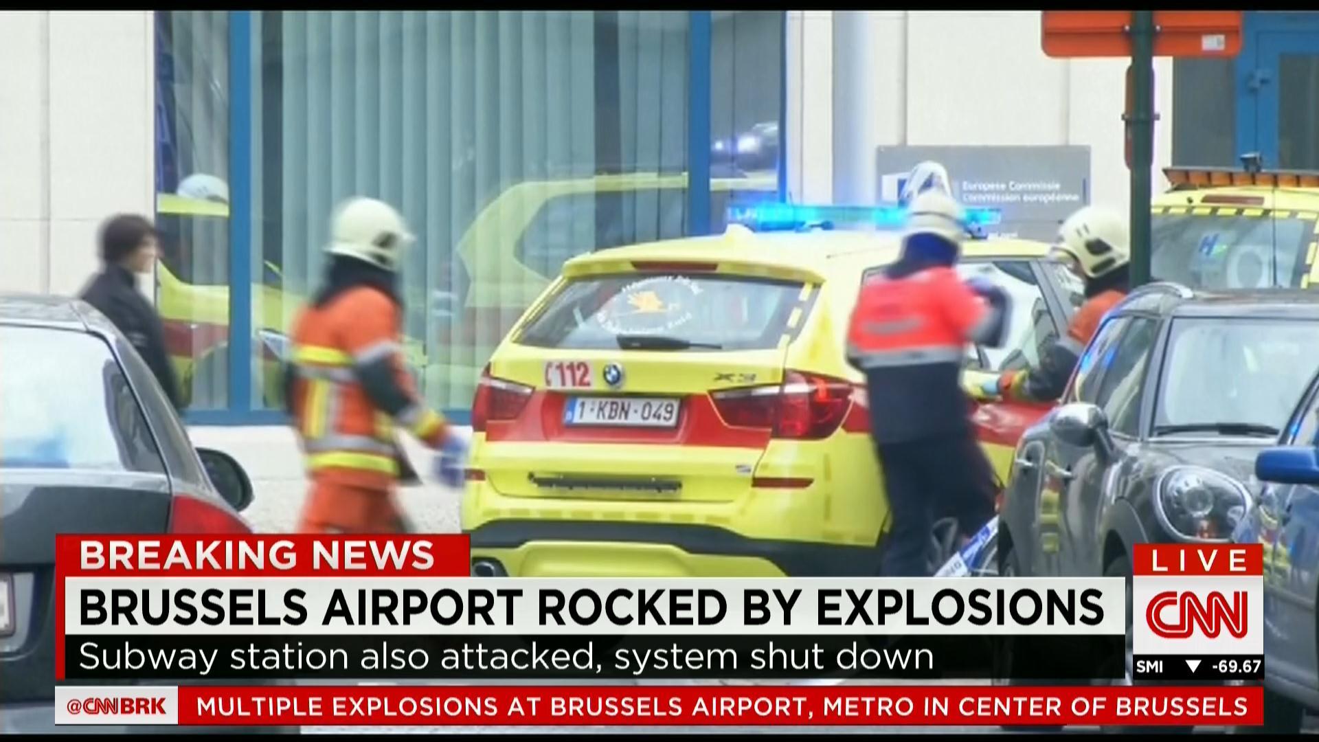 بالصور: شاهد اللحظات الأولى لتفجيرات بروكسل التي هزت بلجيكا