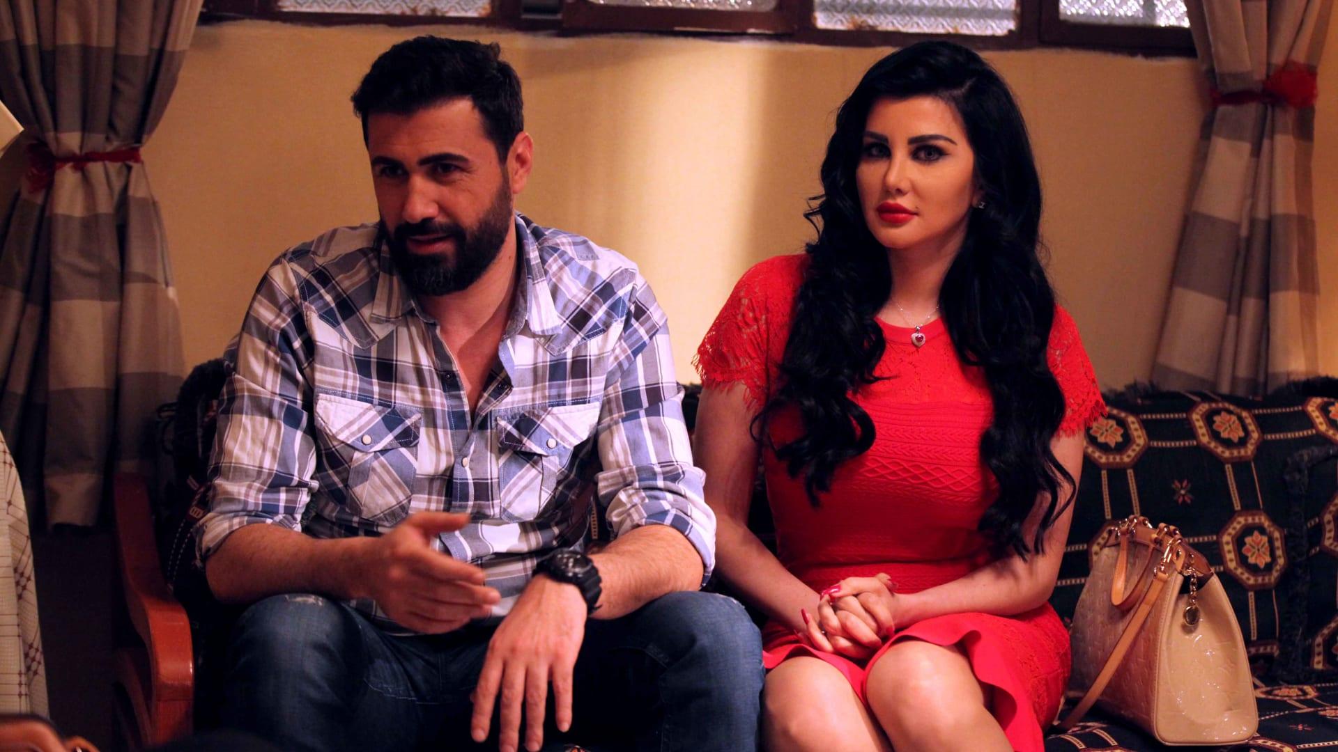 الممثلان السوريان خالد القيش وجيني أسبر في لقطة من المسلسل.