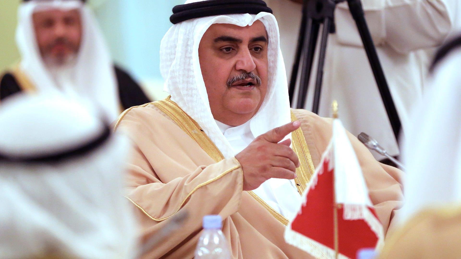"""وزير خارجية البحرين: مكافحة الإرهاب """"عمود رئيسي"""" لموقفنا من قطر"""