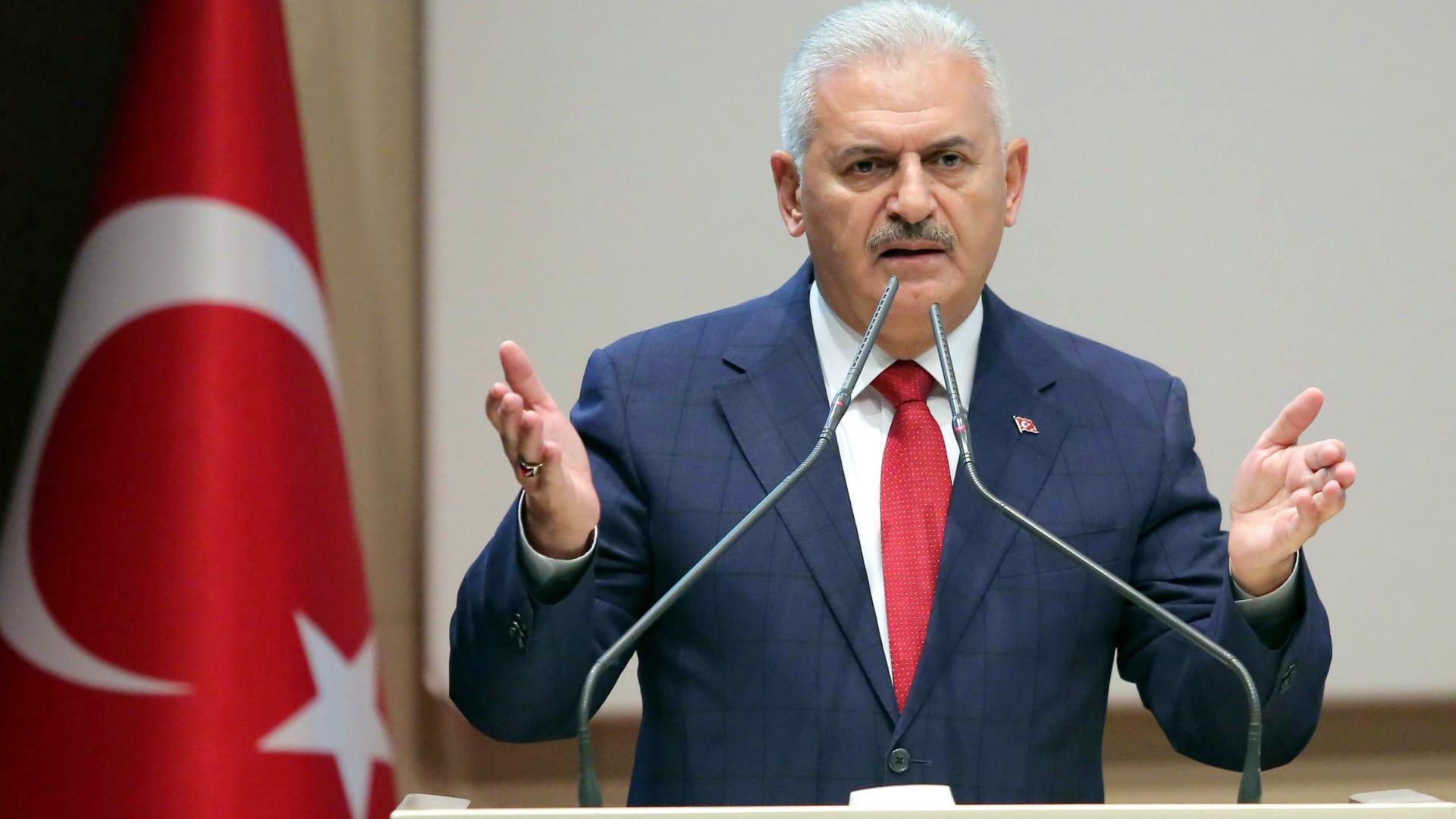 """يلدريم يدعو بارزاني للتخلي عن """"العناد"""" والتراجع عن إجراء استفتاء كردستان"""