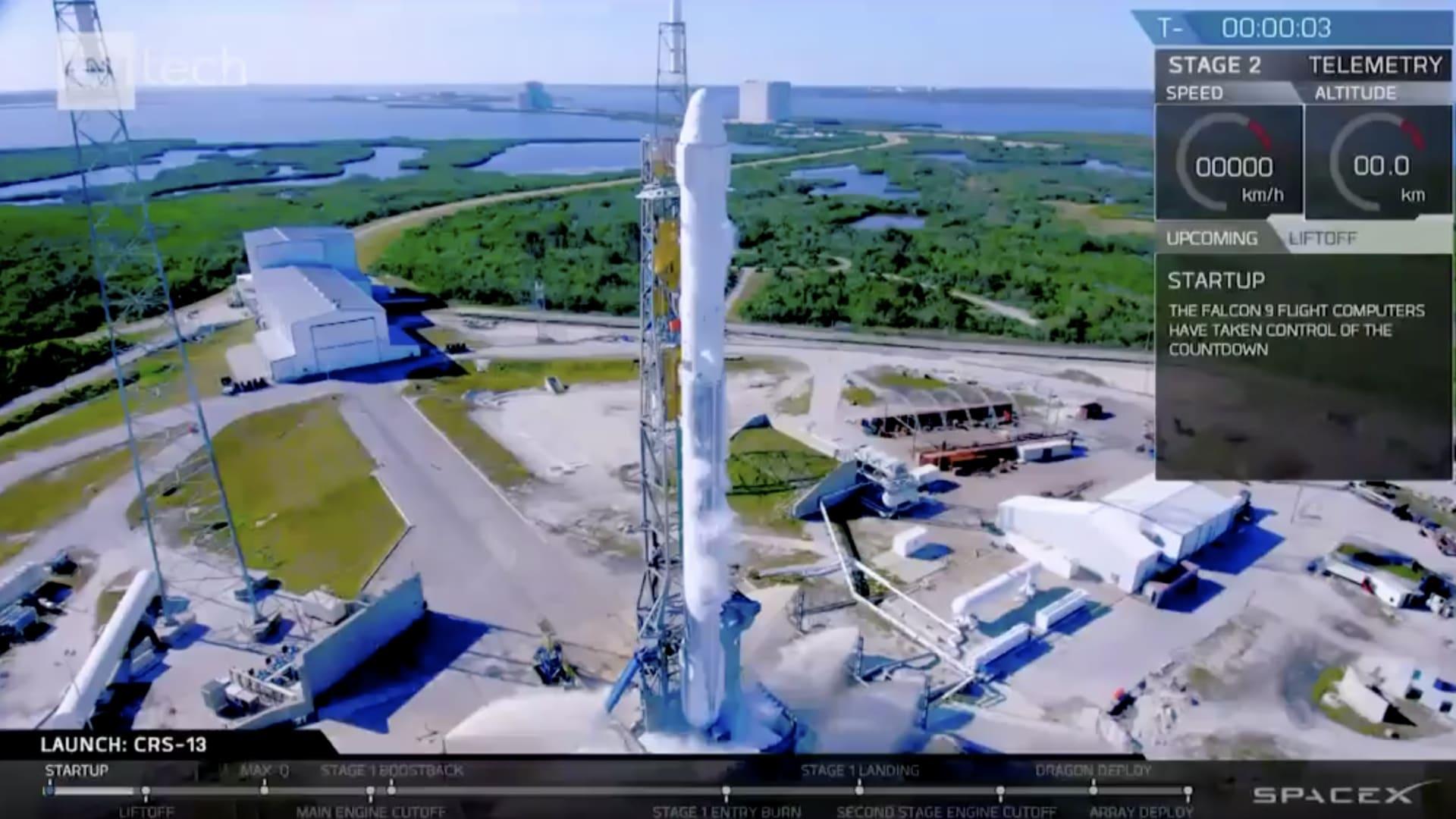 شاهد.. لأول مرة إطلاق صاروخ استخدم سابقاً الى الفضاء
