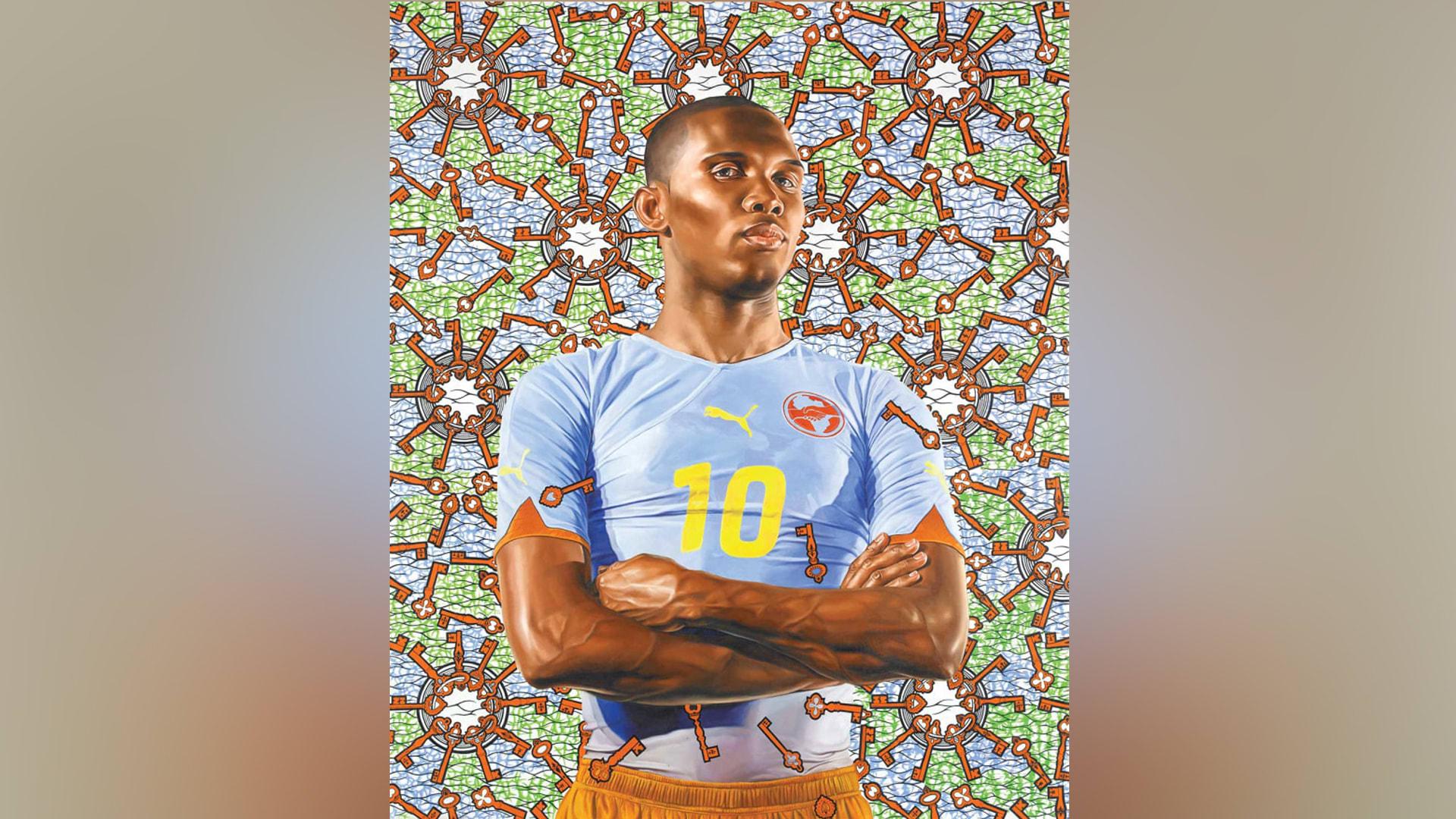 """لوحة """"صامويل إيتو"""" للفنان كهيند وايلي."""