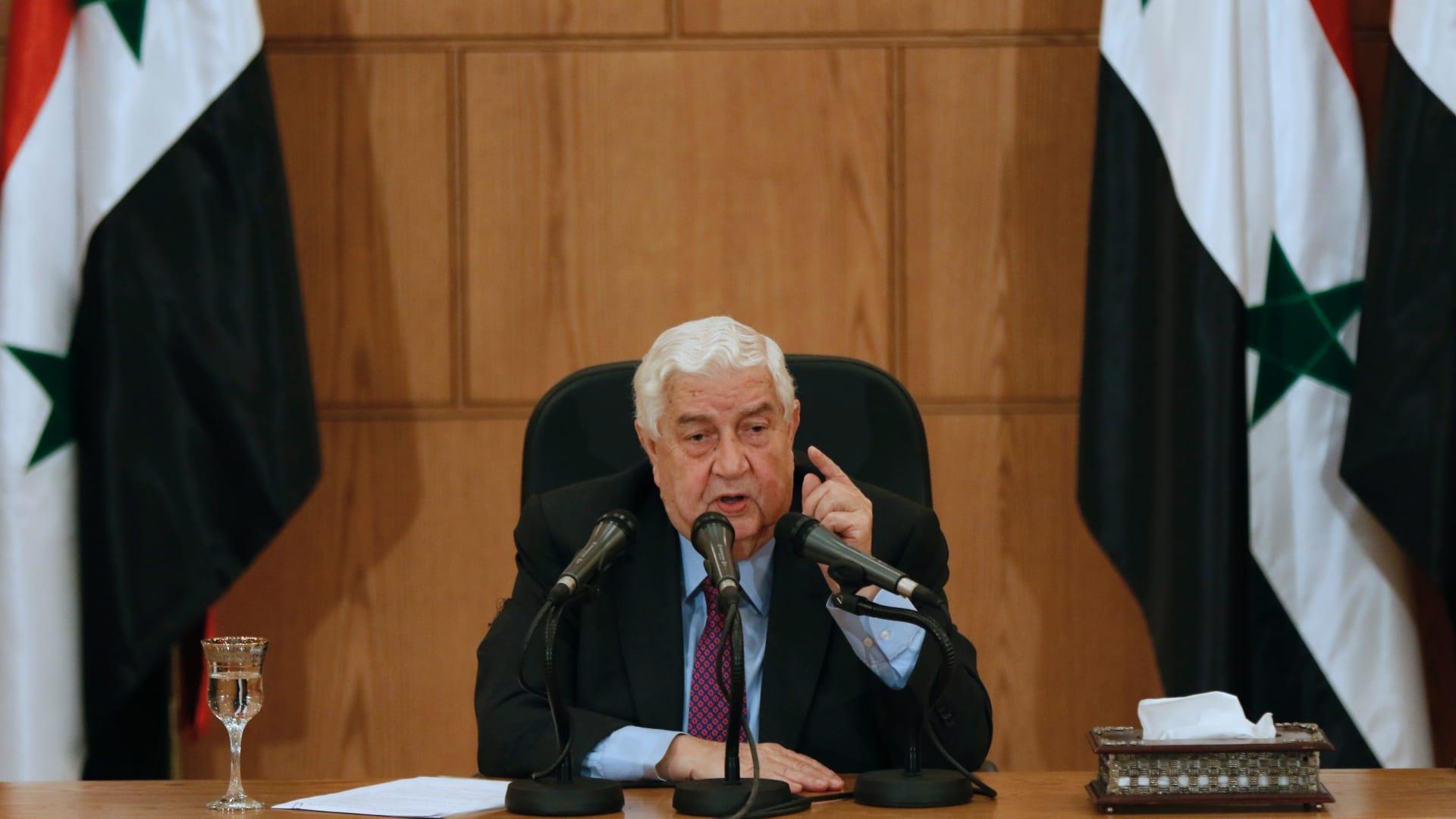 وليد المعلم: المشكلة ليست بالمعارضة.. وأولوية إعمار سوريا للأصدقاء