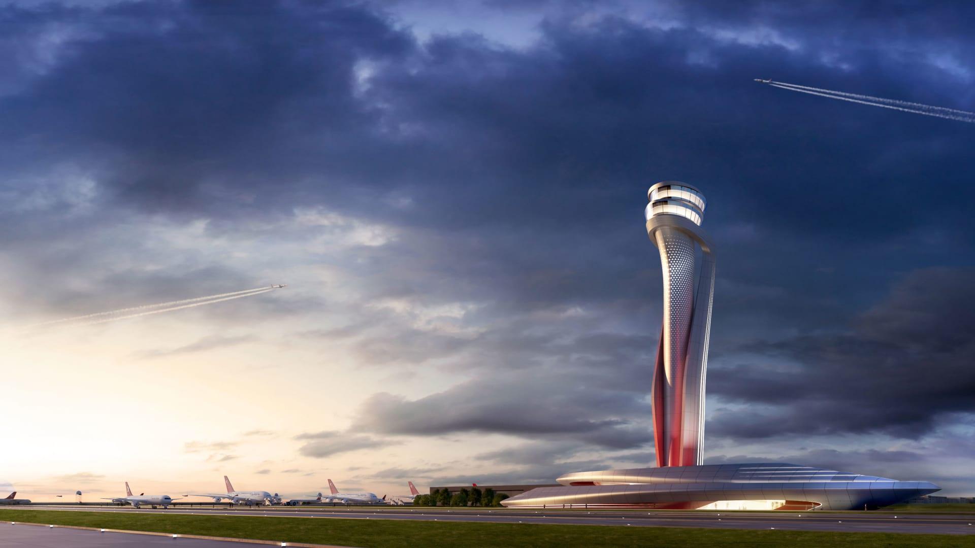 يطمح مطار اسطنبول للاستفادة من موقع تركيا على خريطة العالم، برحلات مغادرة إلى كل مكان من شنغهاي إلى نيويورك.