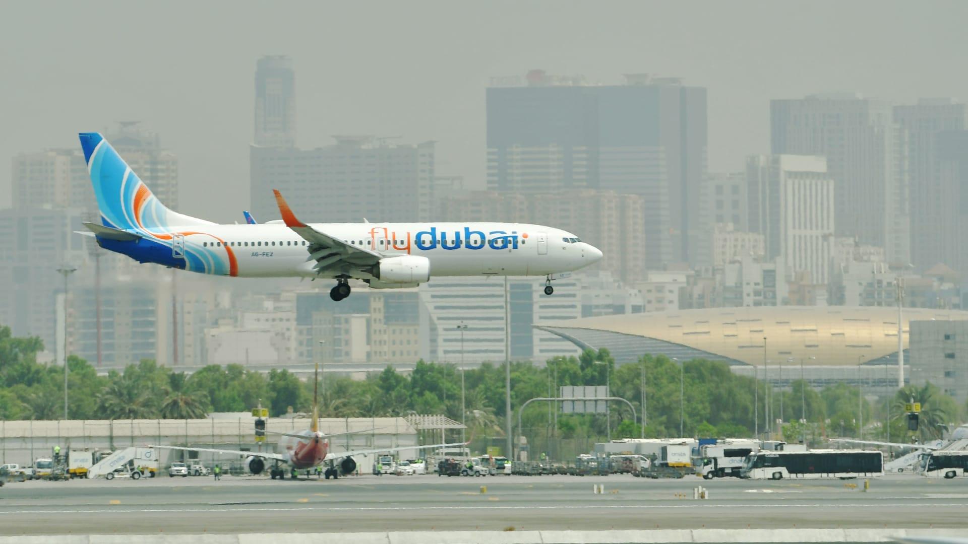 """شركة """"فلاي دبي"""" ترد على التقارير تحدثت عن تسيير رحلاتها إلى دمشق"""